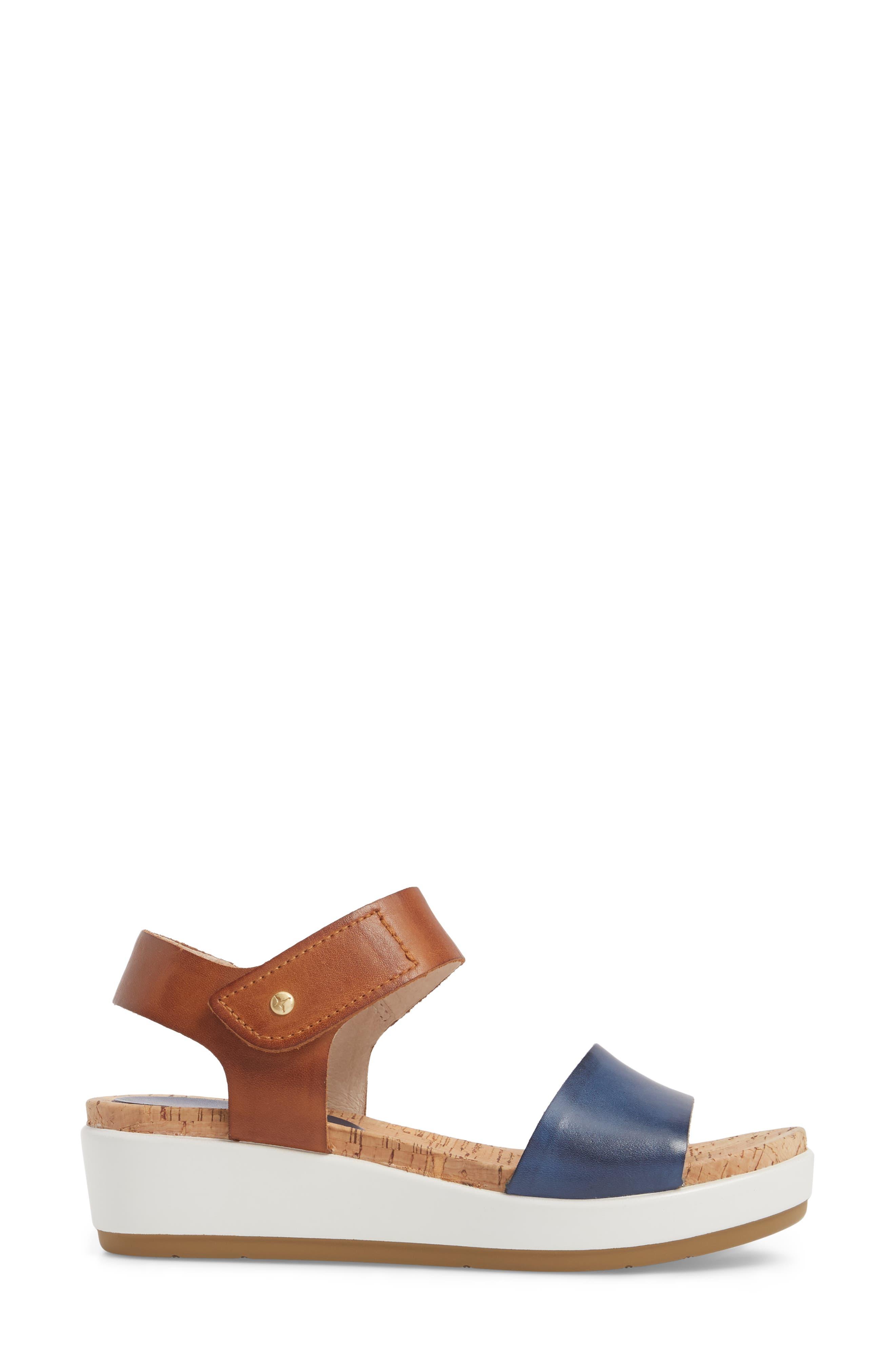 Mykonos Sport Sandal,                             Alternate thumbnail 3, color,                             Royal Blue Leather