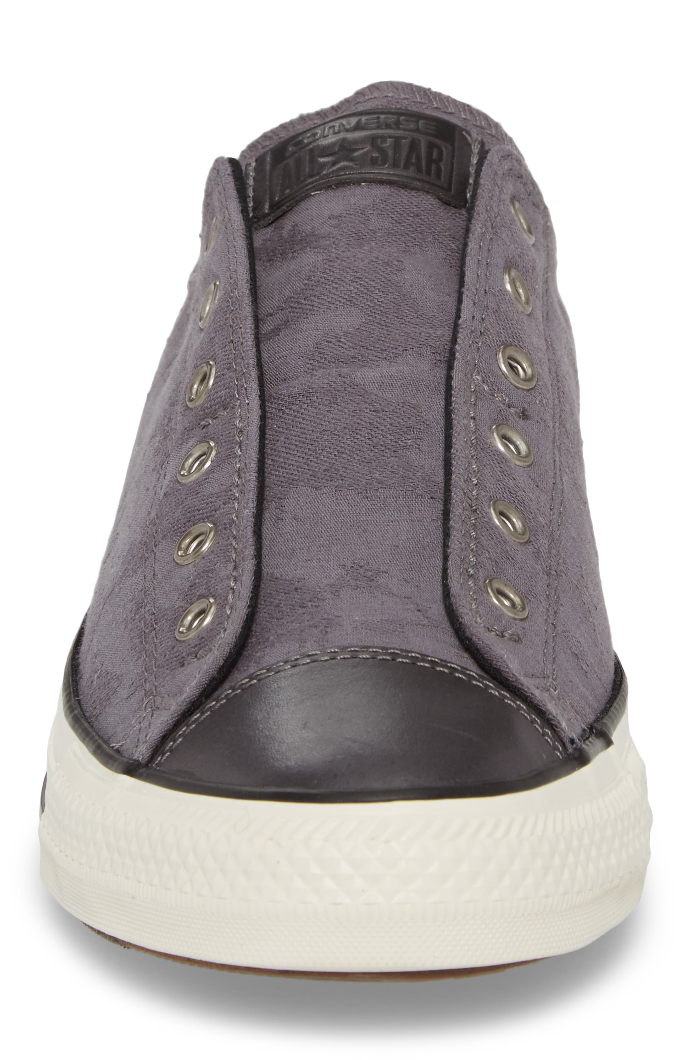 Chuck Taylor<sup>®</sup> All Star<sup>®</sup> Laceless Low Top Sneaker,                             Alternate thumbnail 4, color,                             Thunder