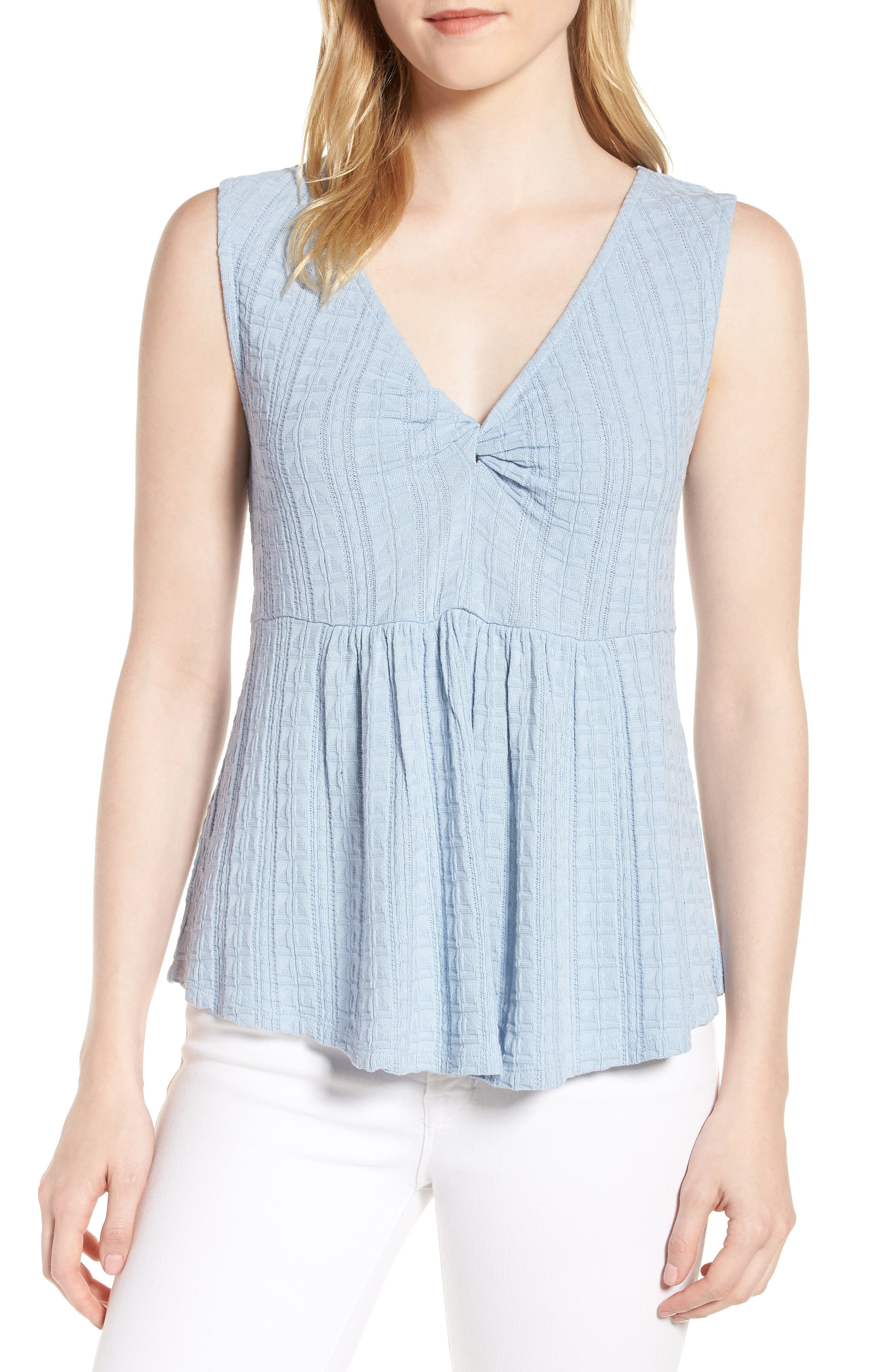 Lucky Brand Twist Neck Tank