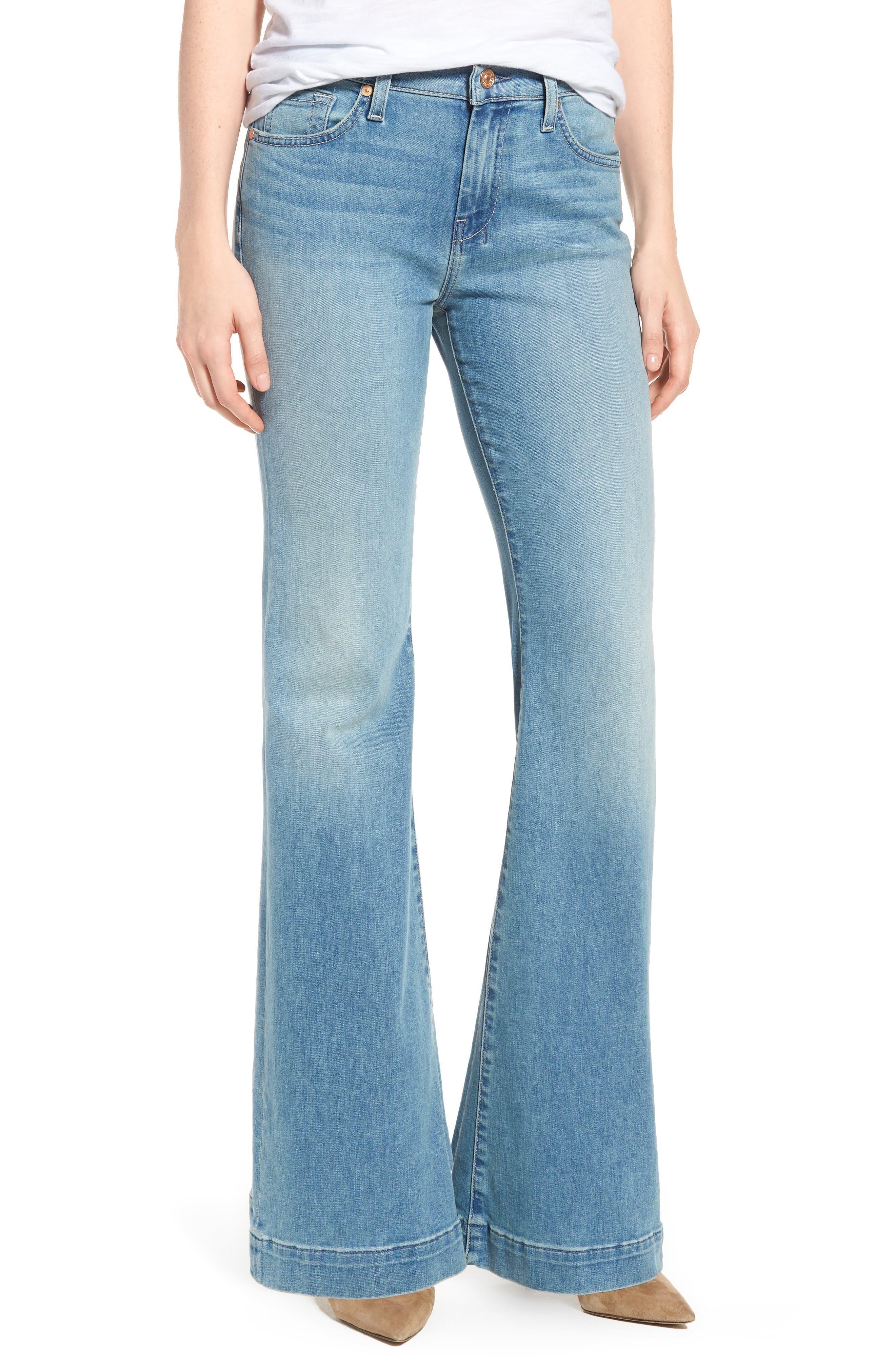 7 For All Mankind® Dojo Wide Leg Jeans (Desert Heights)