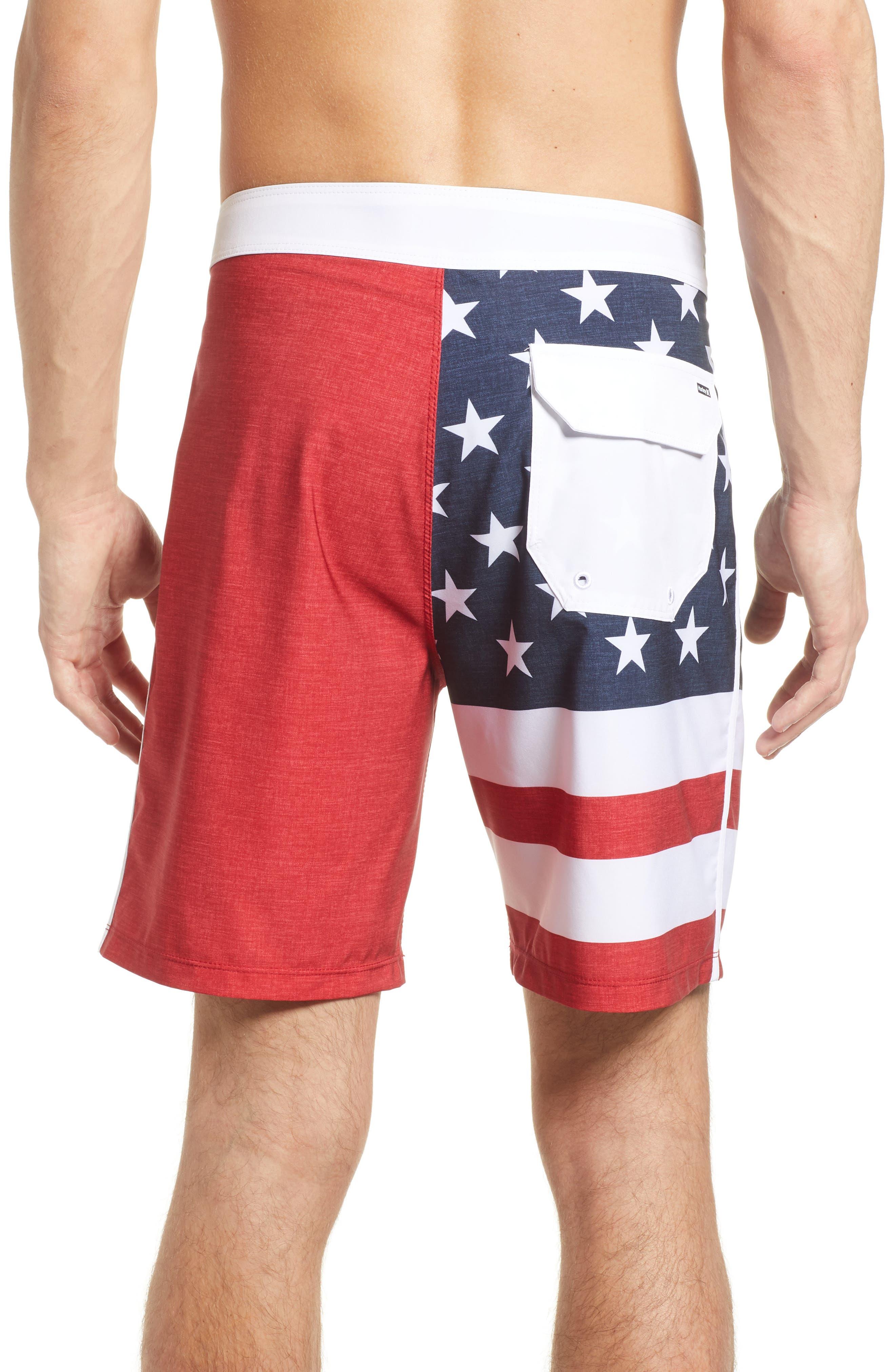 Phantom Cheers Board Shorts,                             Alternate thumbnail 2, color,                             Gym Red