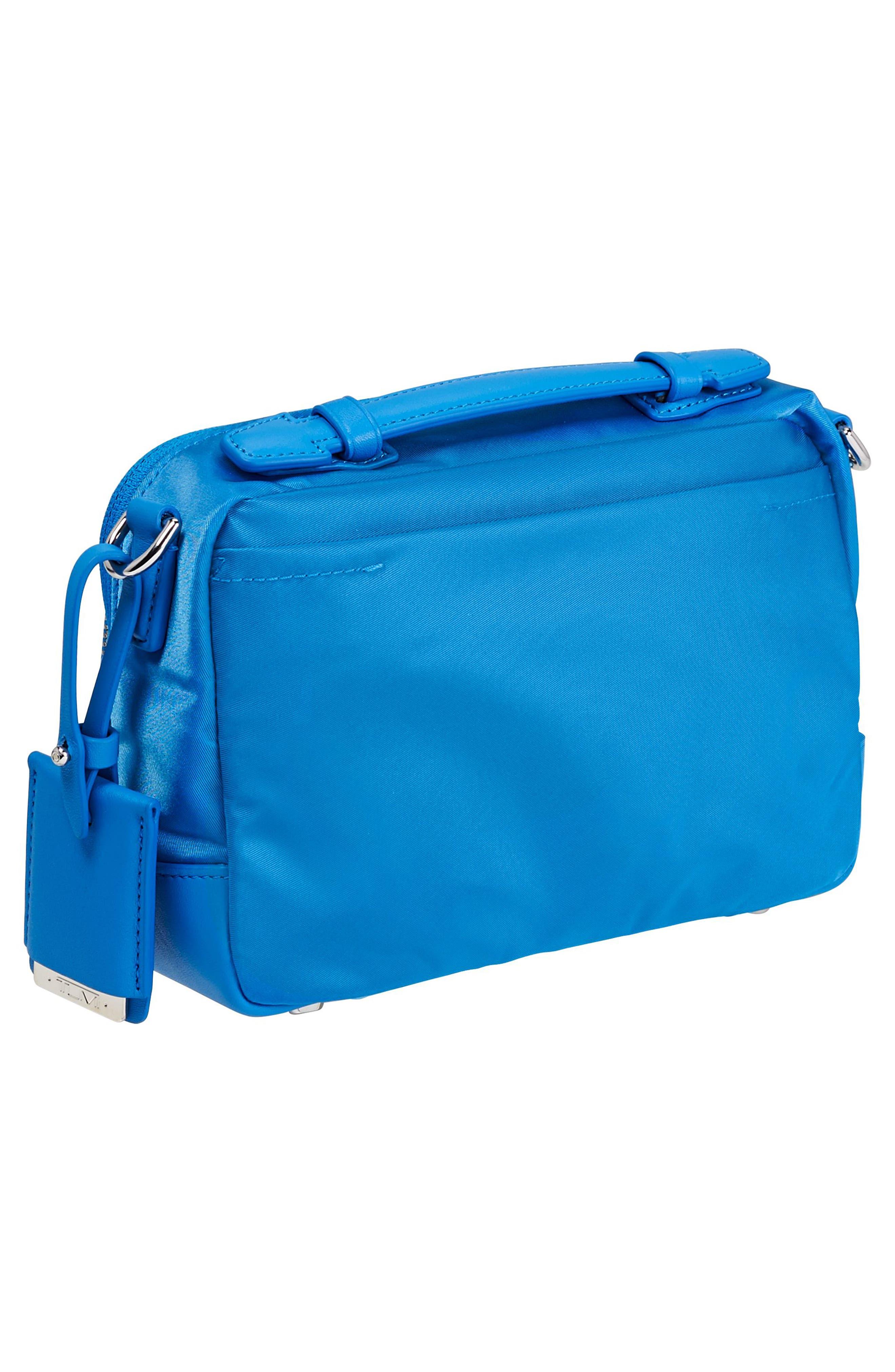 Luanda Crossbody Flight Bag,                             Alternate thumbnail 3, color,                             Bright Blue