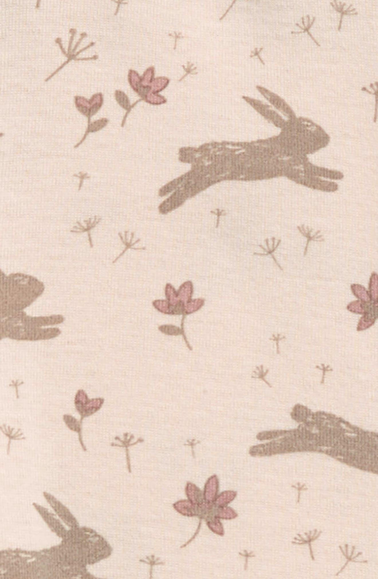 Peek Bunny Leggings,                             Alternate thumbnail 2, color,                             Light Pink
