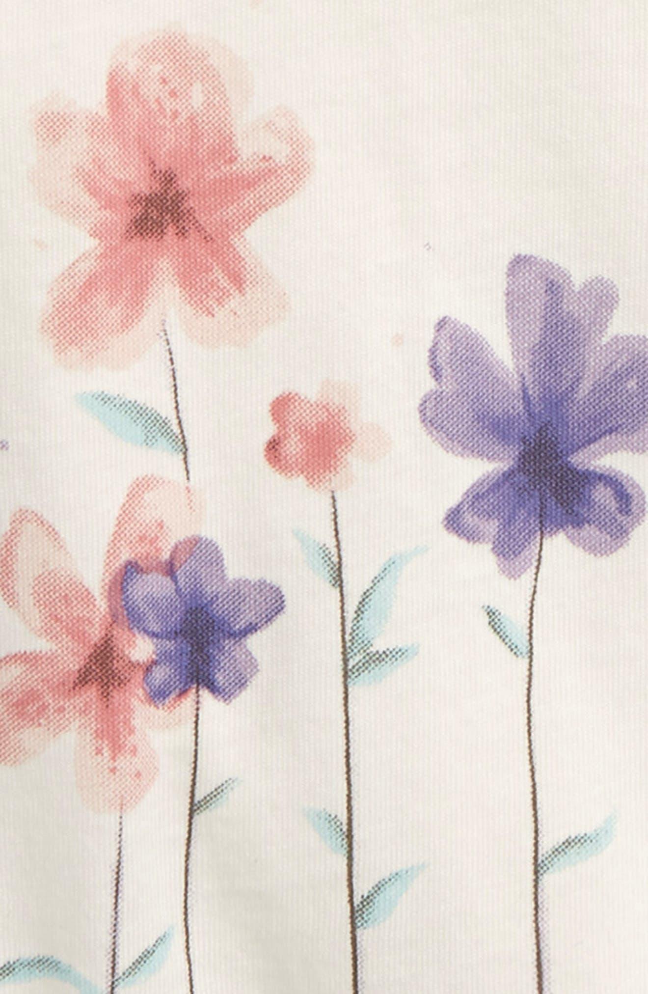 Peek Flower Graphic Tee,                             Alternate thumbnail 2, color,                             Ivory