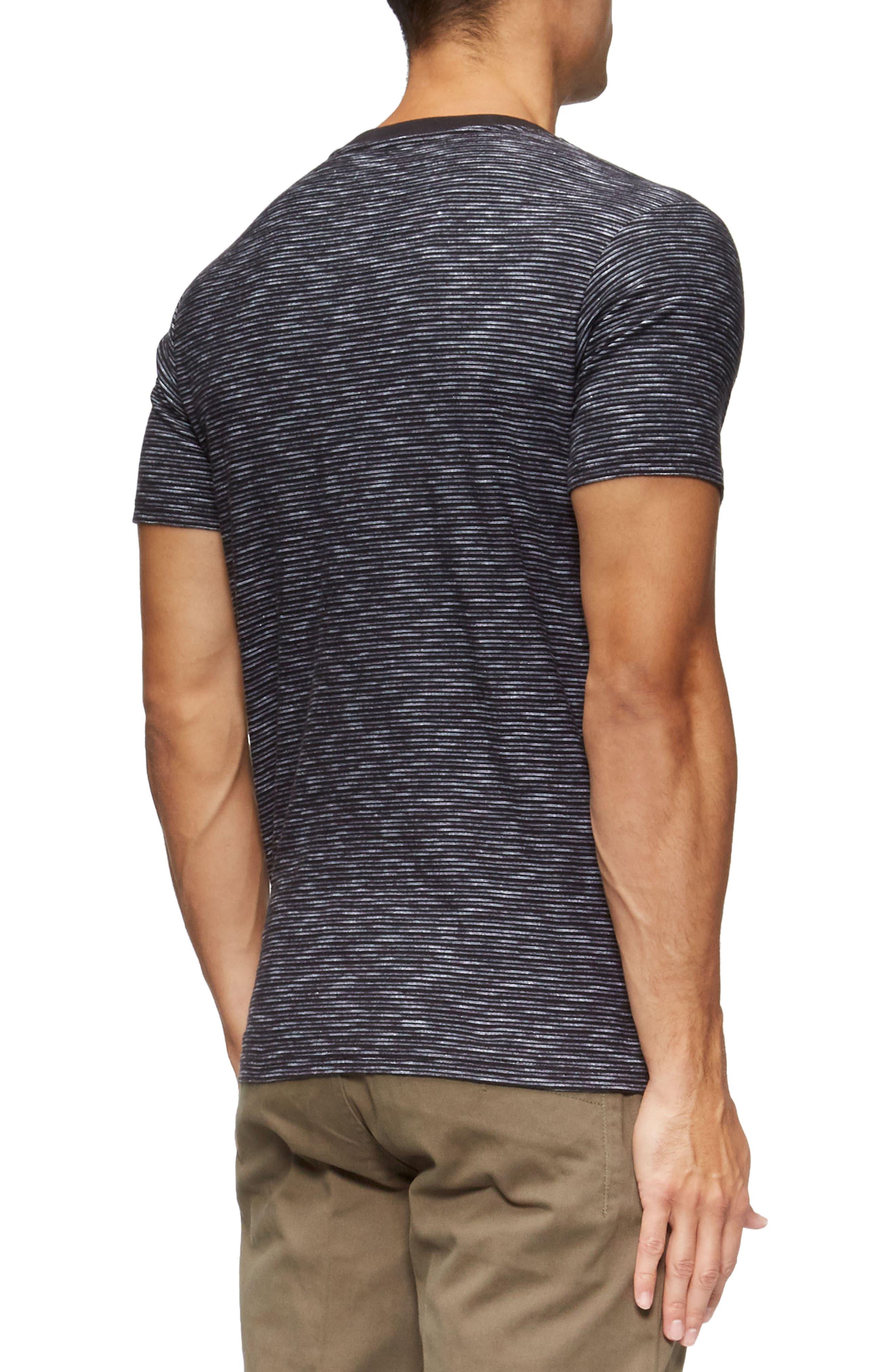 Redondo Stripe Pocket T-Shirt,                             Alternate thumbnail 2, color,                             Black/ White Stripe