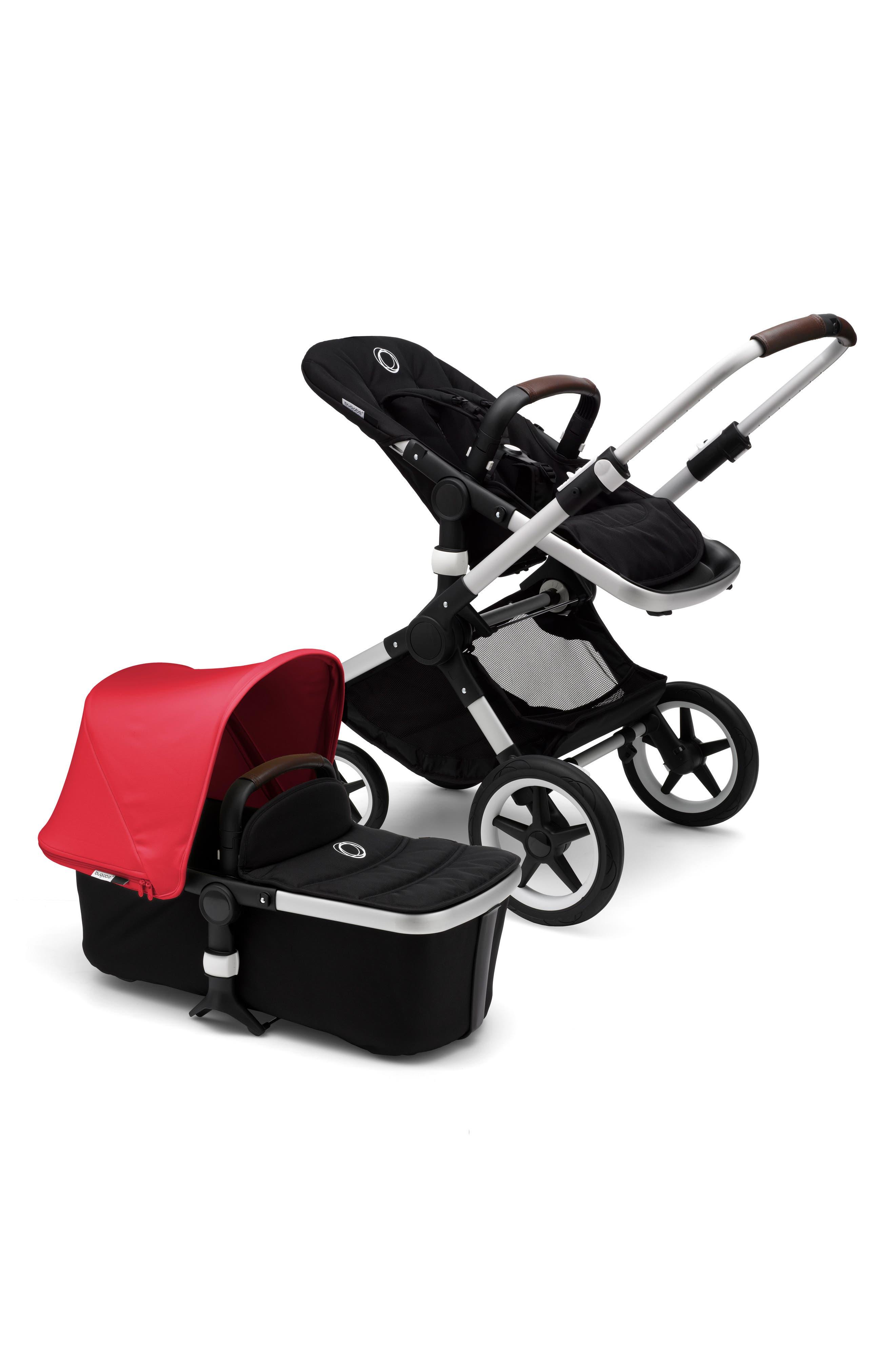 Fox Complete Stroller,                             Alternate thumbnail 3, color,                             Neon Red/ Aluminum