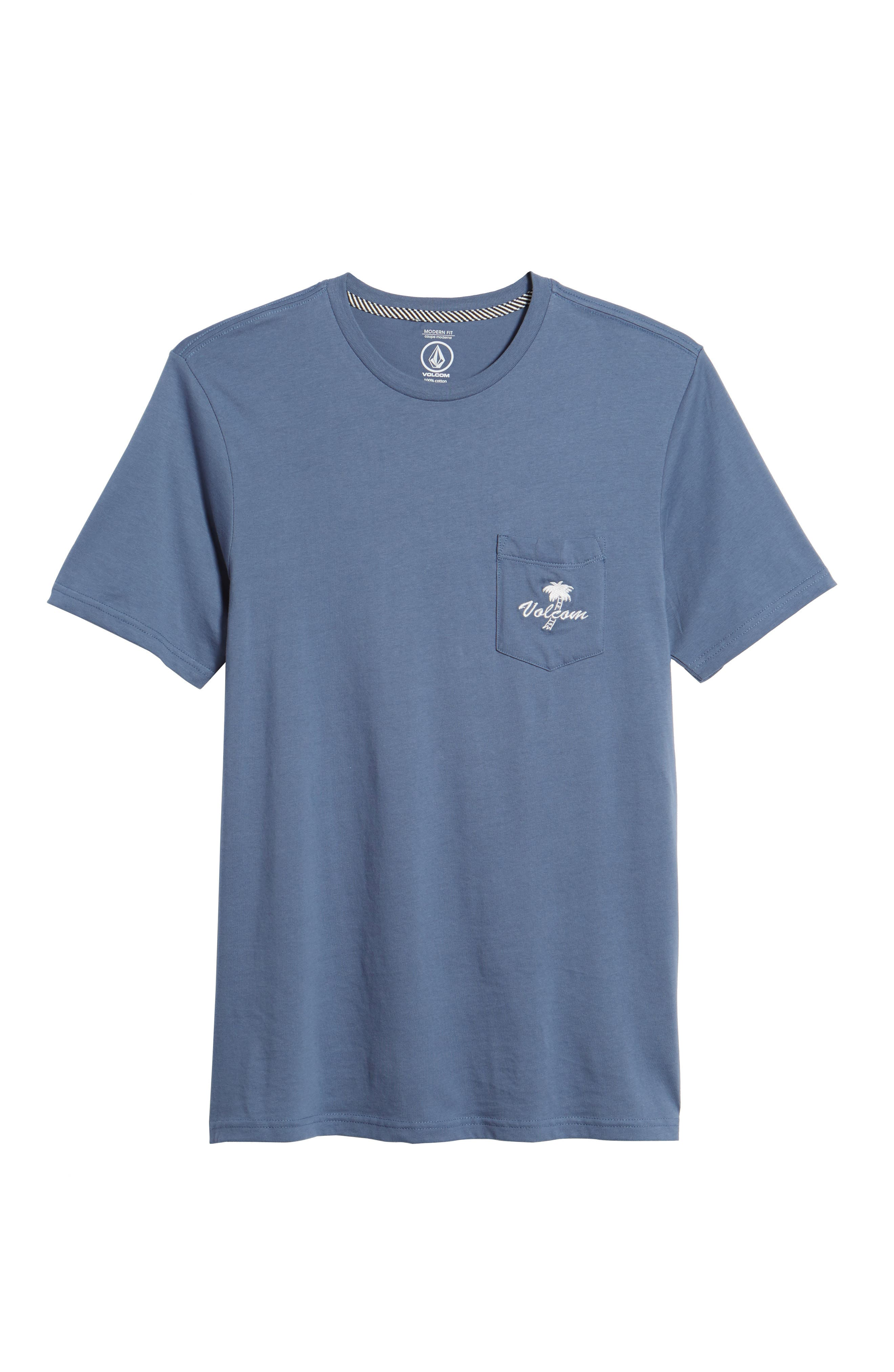 Last Resort Pocket T-Shirt,                             Alternate thumbnail 6, color,                             Deep Blue