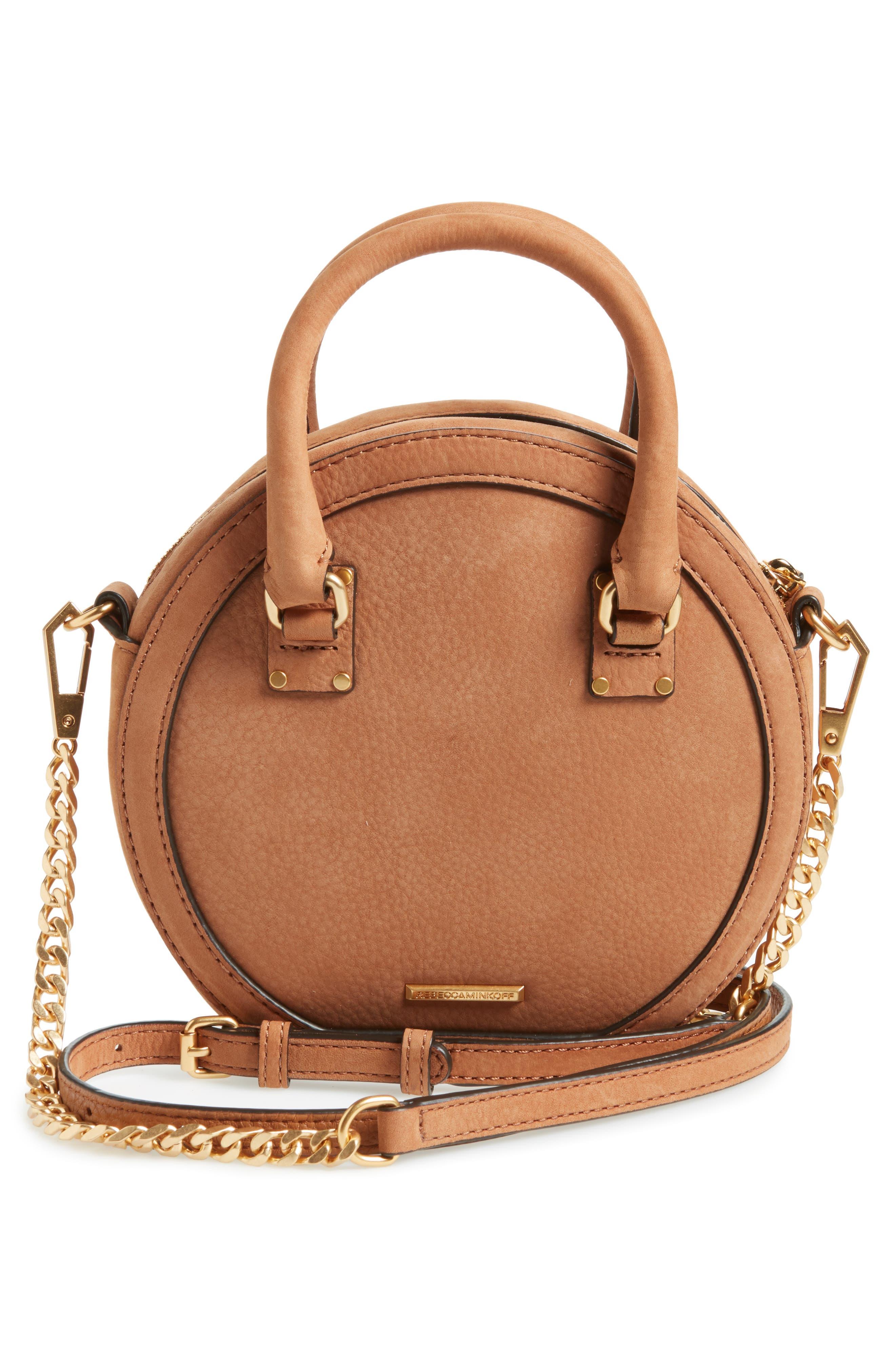 Bree Circle Crossbody Bag,                             Alternate thumbnail 3, color,                             Almond