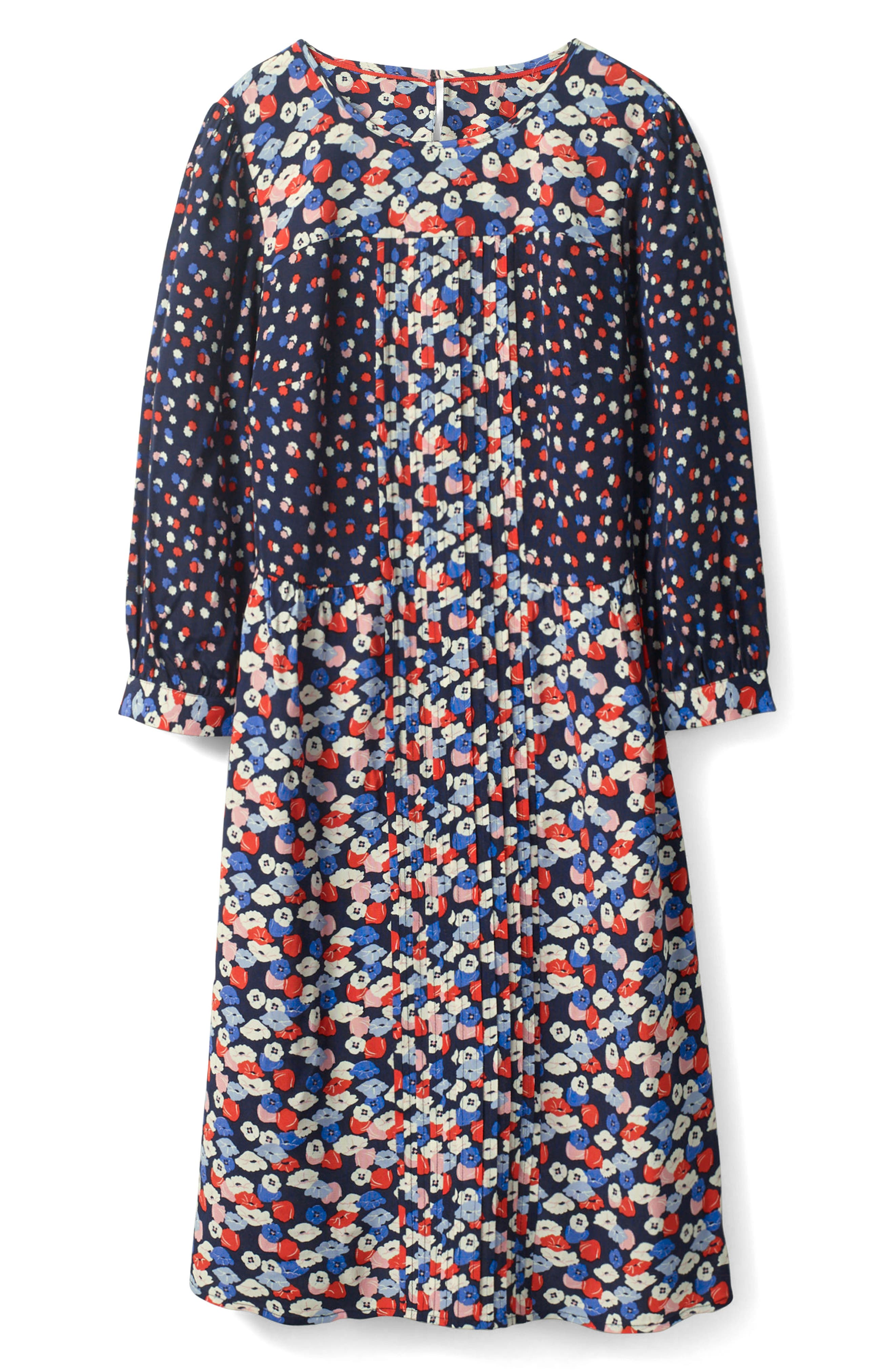 Alternate Image 1 Selected - Boden Hotchpotch Pattern Mix Pintuck Dress