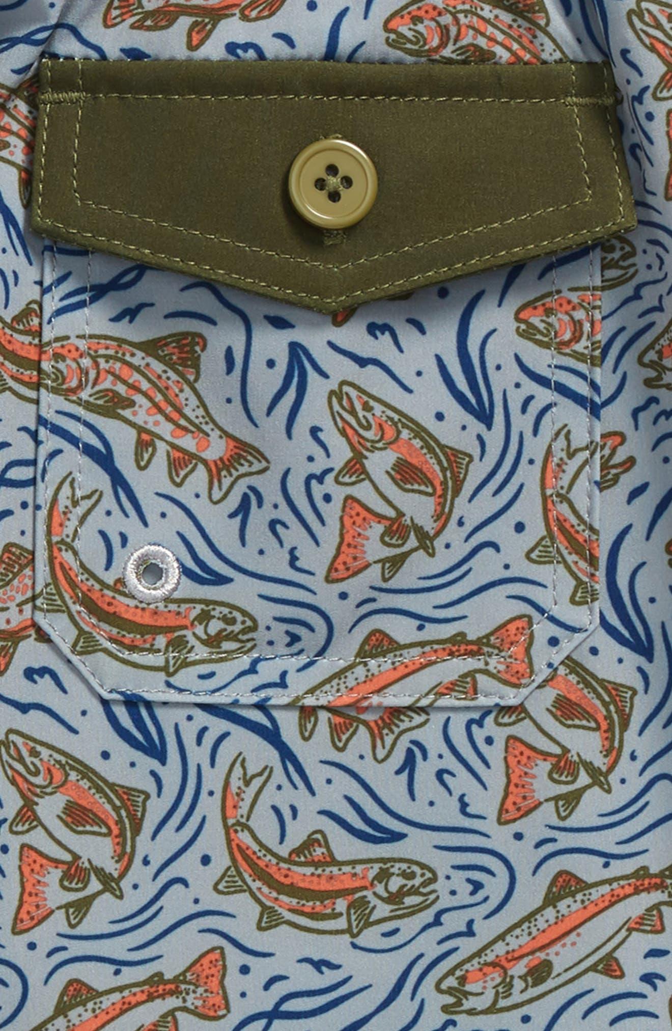Alternate Image 3  - United By Blue Upstream Board Shorts (Little Boys & Big Boys)