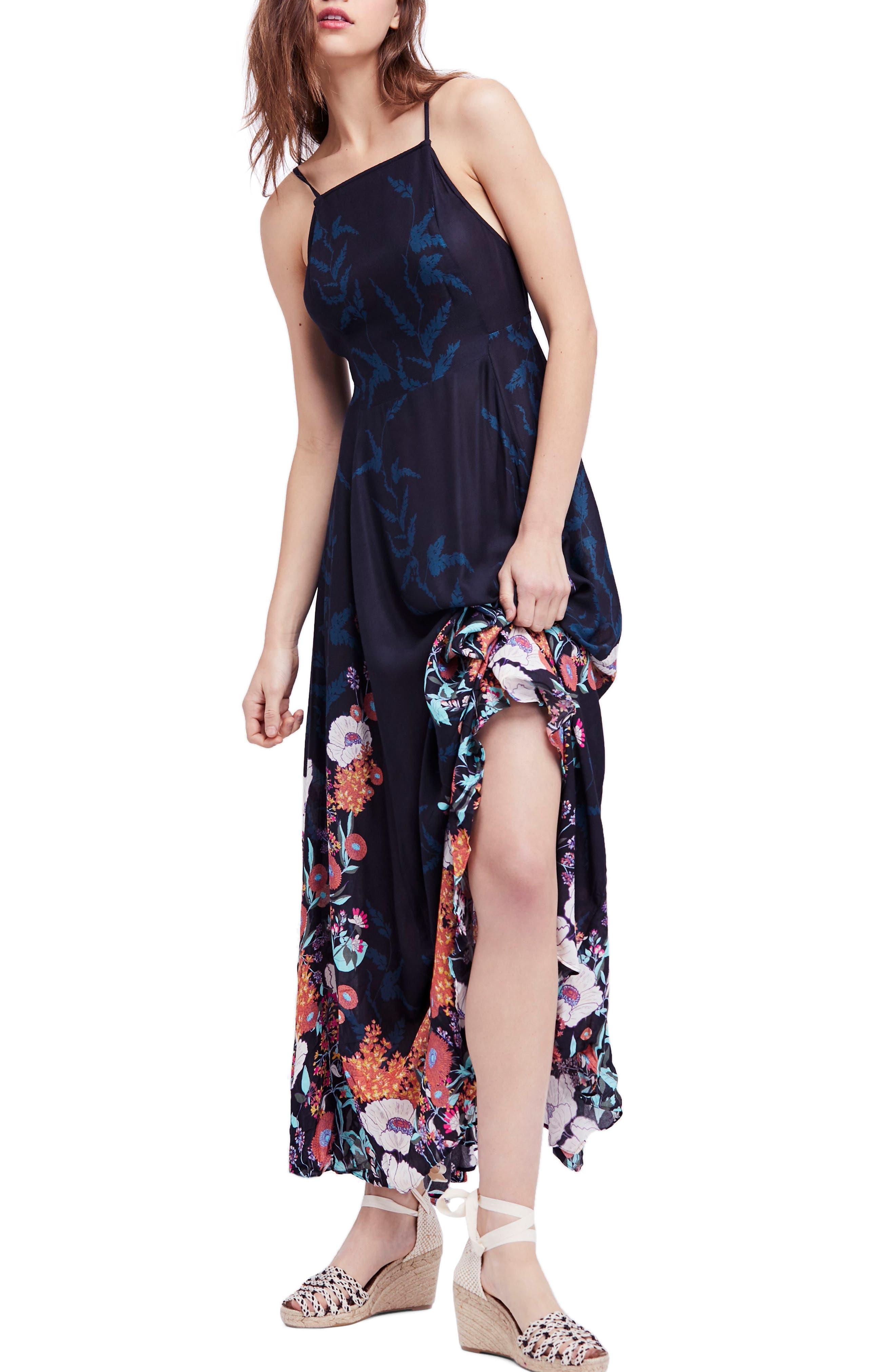 Embrace It Maxi Dress,                             Main thumbnail 1, color,                             Black Combo