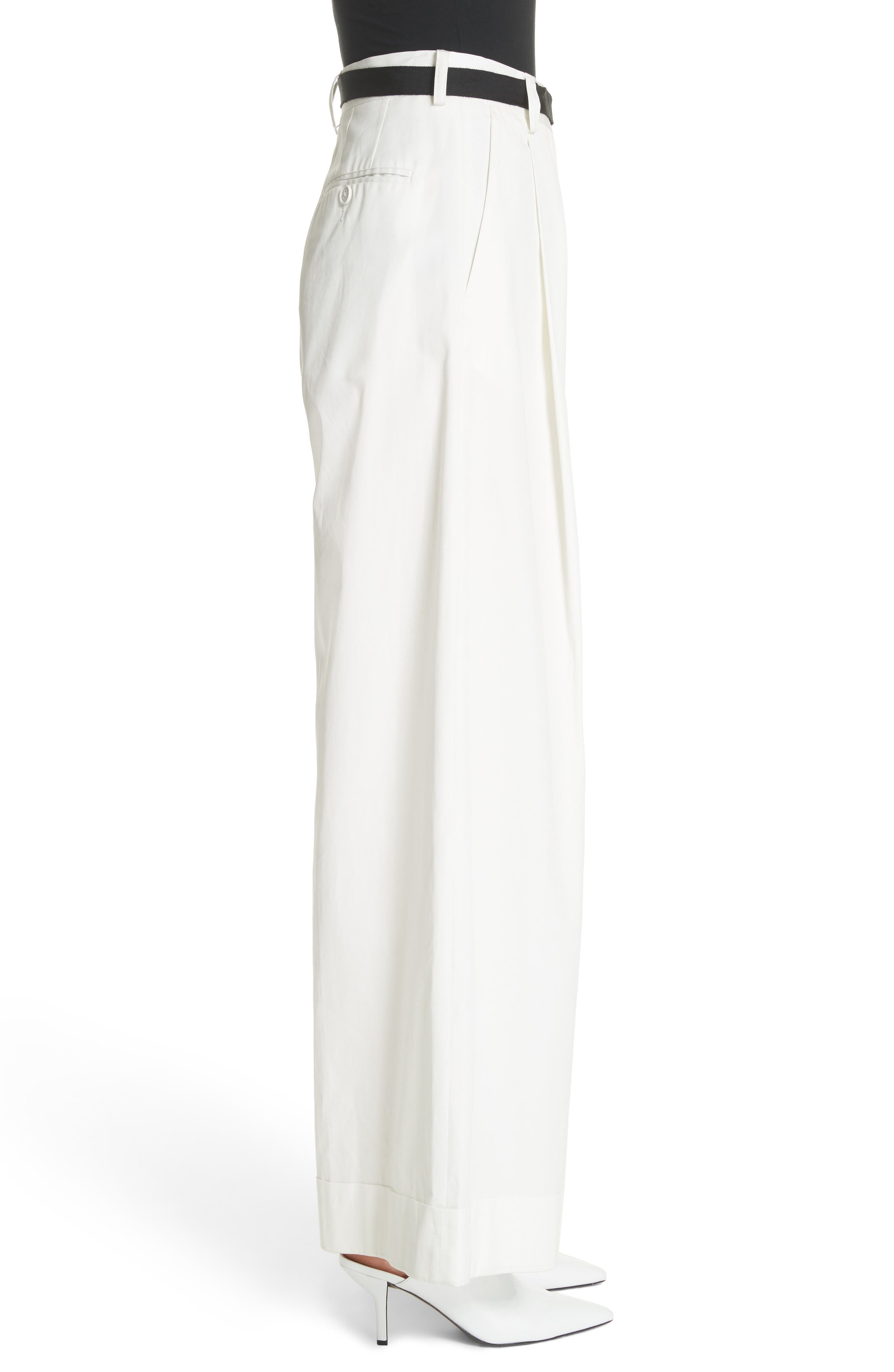 High Waist Wide Leg Pants,                             Alternate thumbnail 5, color,                             Ivory