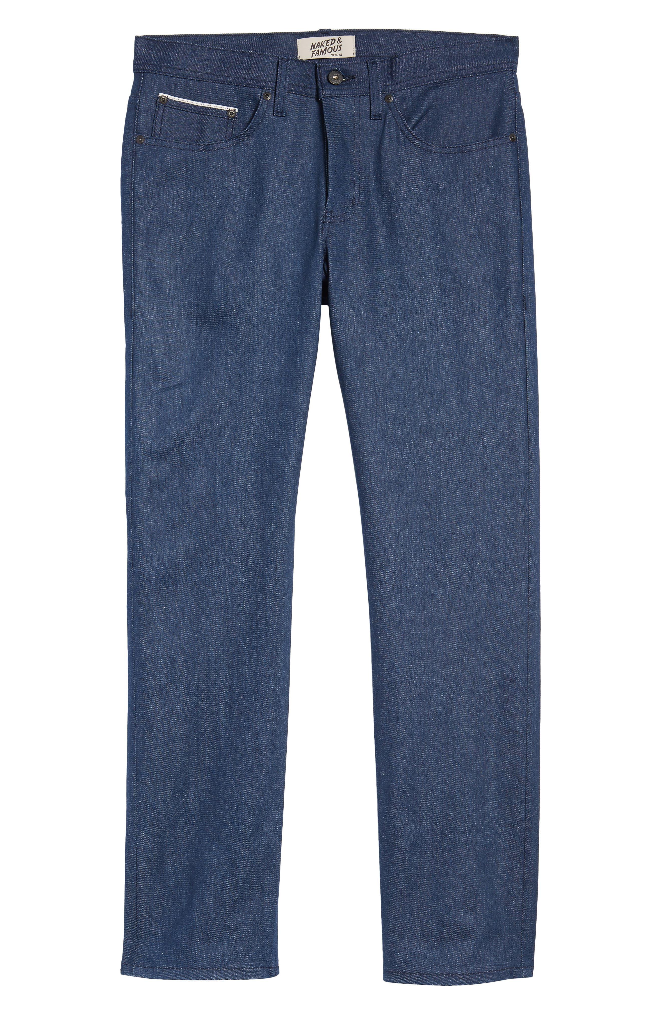 Weird Guy Slim Fit Jeans,                             Alternate thumbnail 6, color,                             Workmans Blue