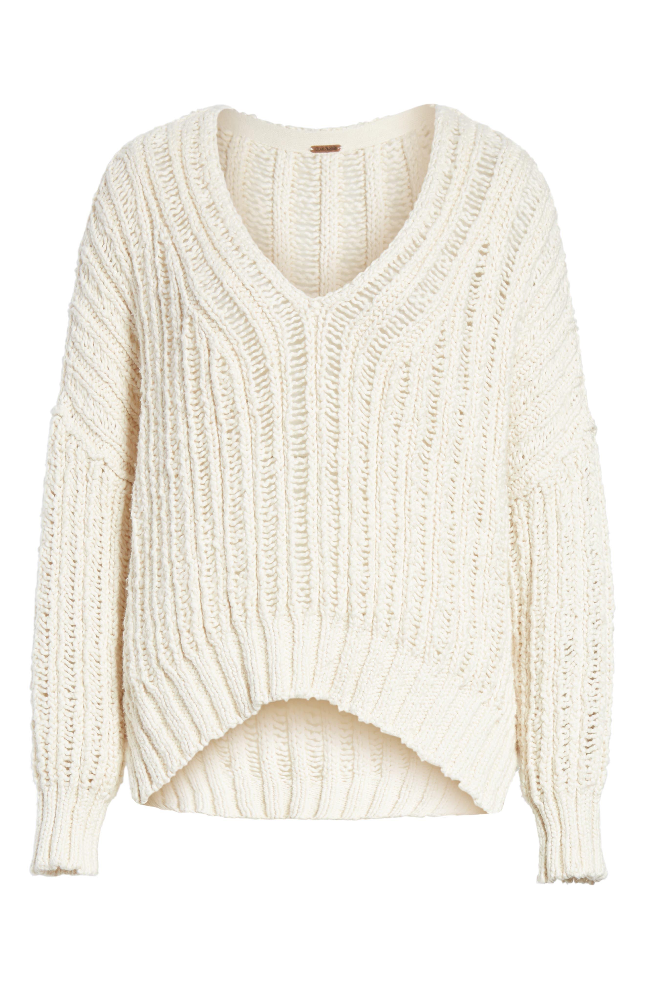 Infinite V-Neck Sweater,                             Alternate thumbnail 6, color,                             Ivory