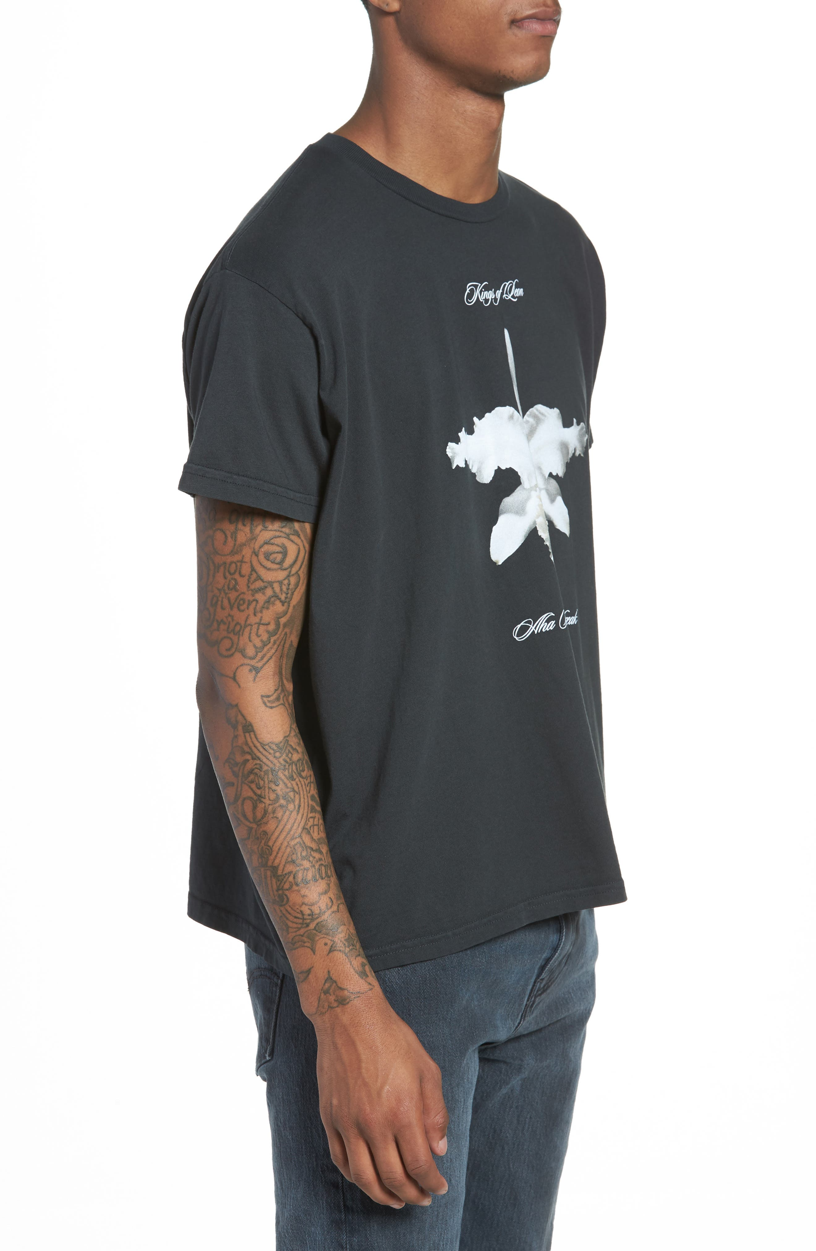 Kings of Leon Aha Shake Heartbreak T-Shirt,                             Alternate thumbnail 3, color,                             Dusty Black