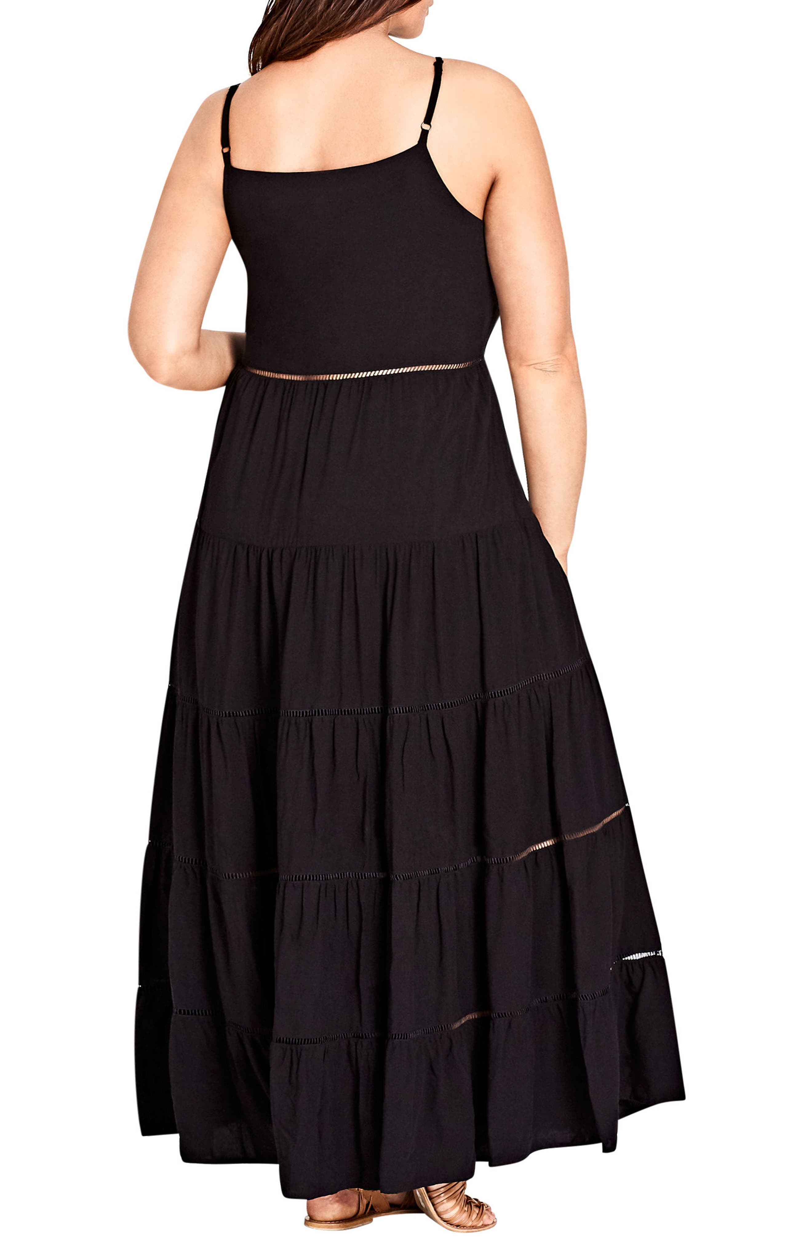 Festival Maxi Dress,                             Alternate thumbnail 2, color,                             Black