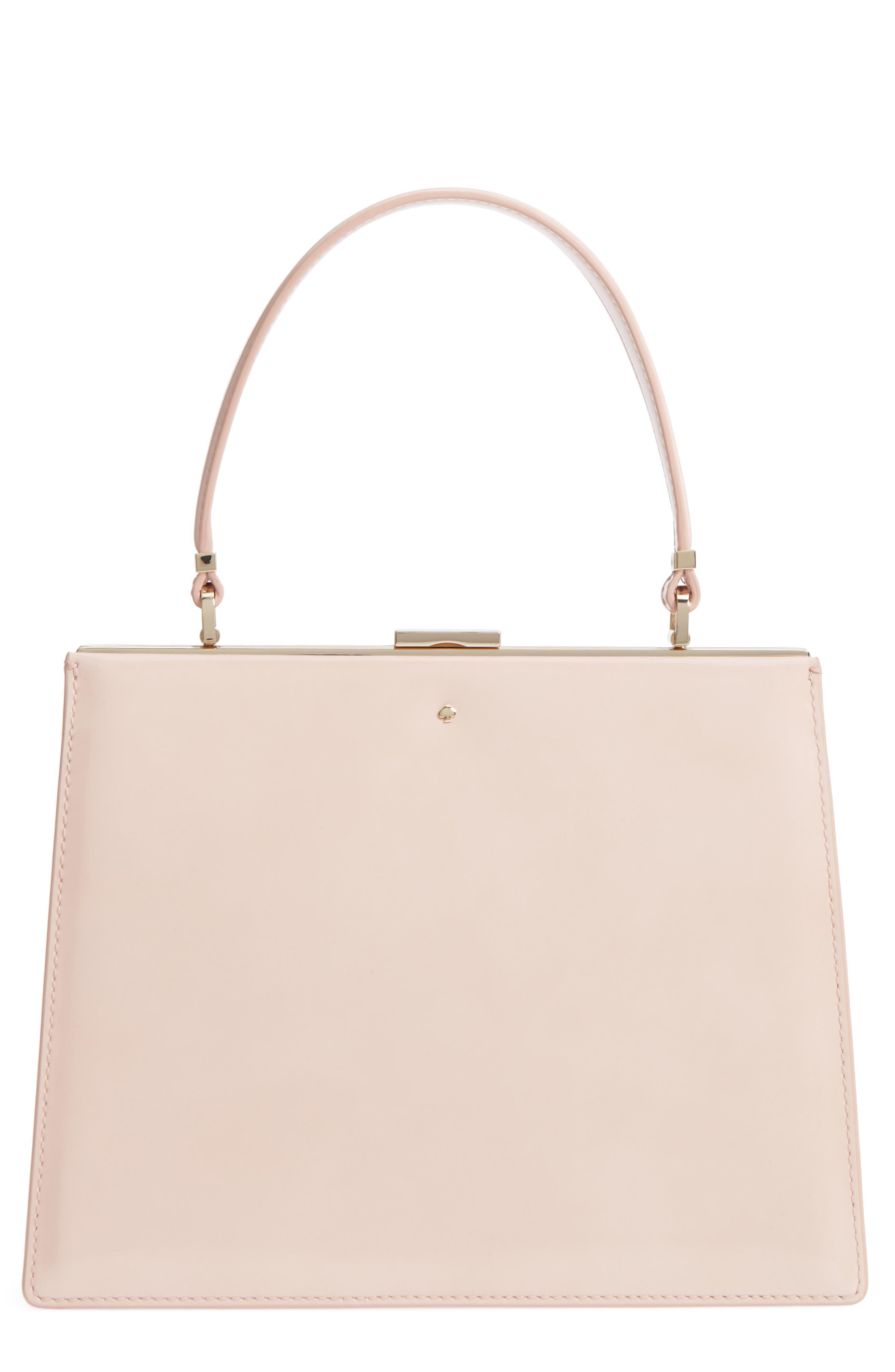 madison moore road - chari leather handbag,                         Main,                         color, Sand Flat