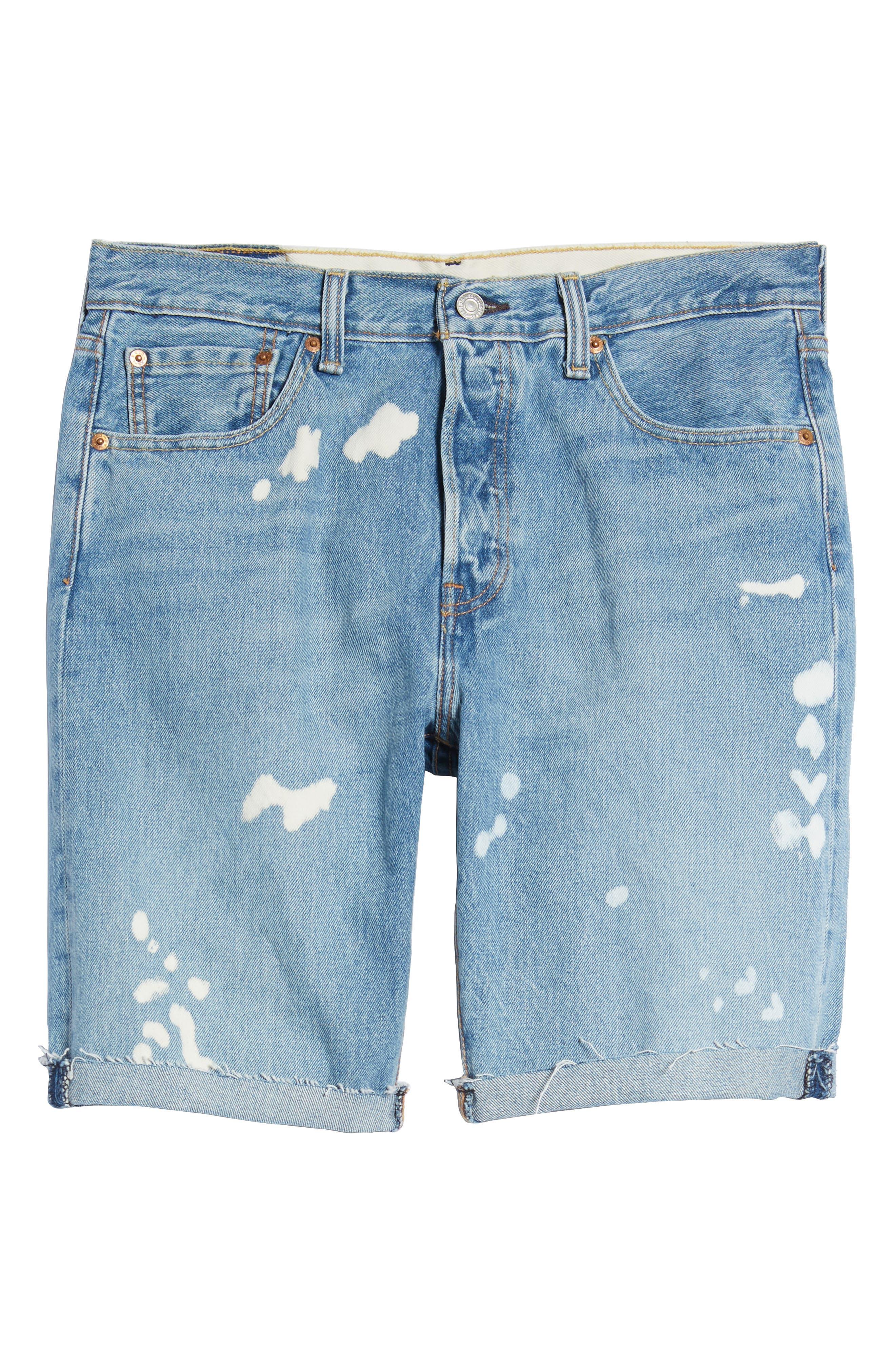 501<sup>®</sup> Cutoff Denim Shorts,                             Alternate thumbnail 6, color,                             Lifes A Bleach
