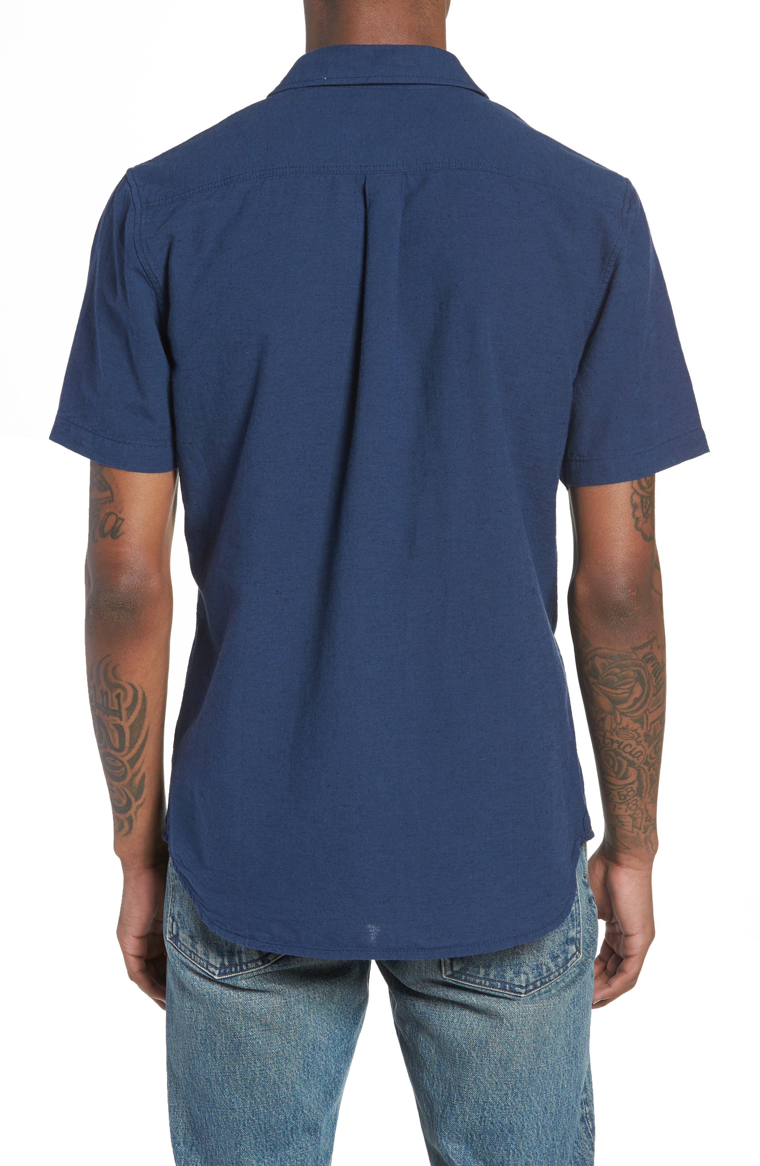 Thurber Short Sleeve Shirt,                             Alternate thumbnail 2, color,                             Dress Blues