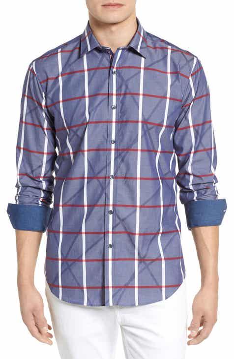 Bugatchi Woven Sport Shirt