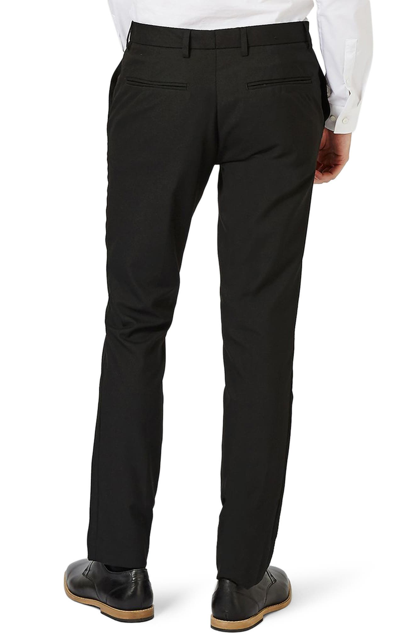 Skinny Fit Pants,                             Alternate thumbnail 2, color,                             Black