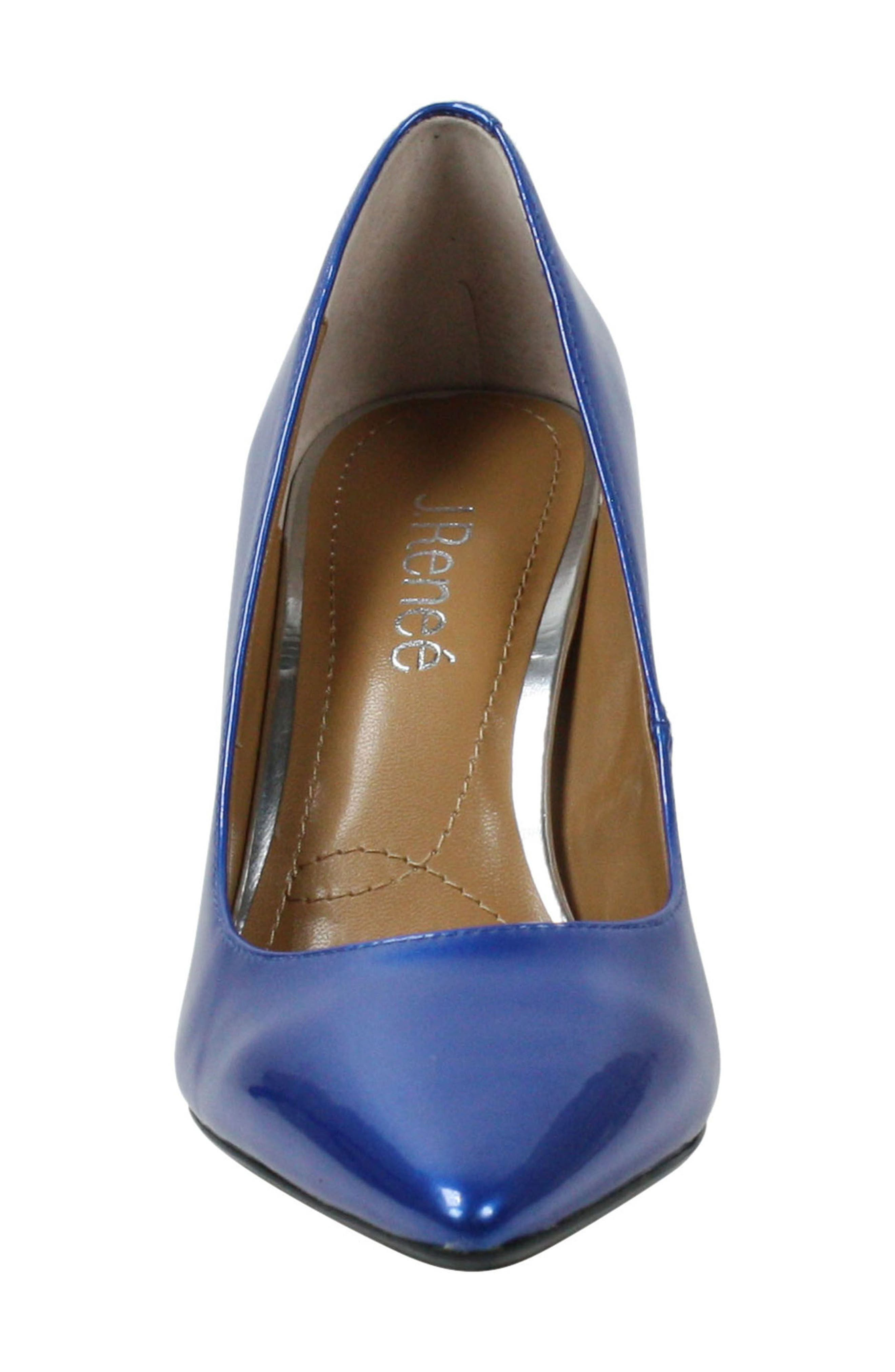 'Maressa' Pointy Toe Pump,                             Alternate thumbnail 4, color,                             Blue Patent