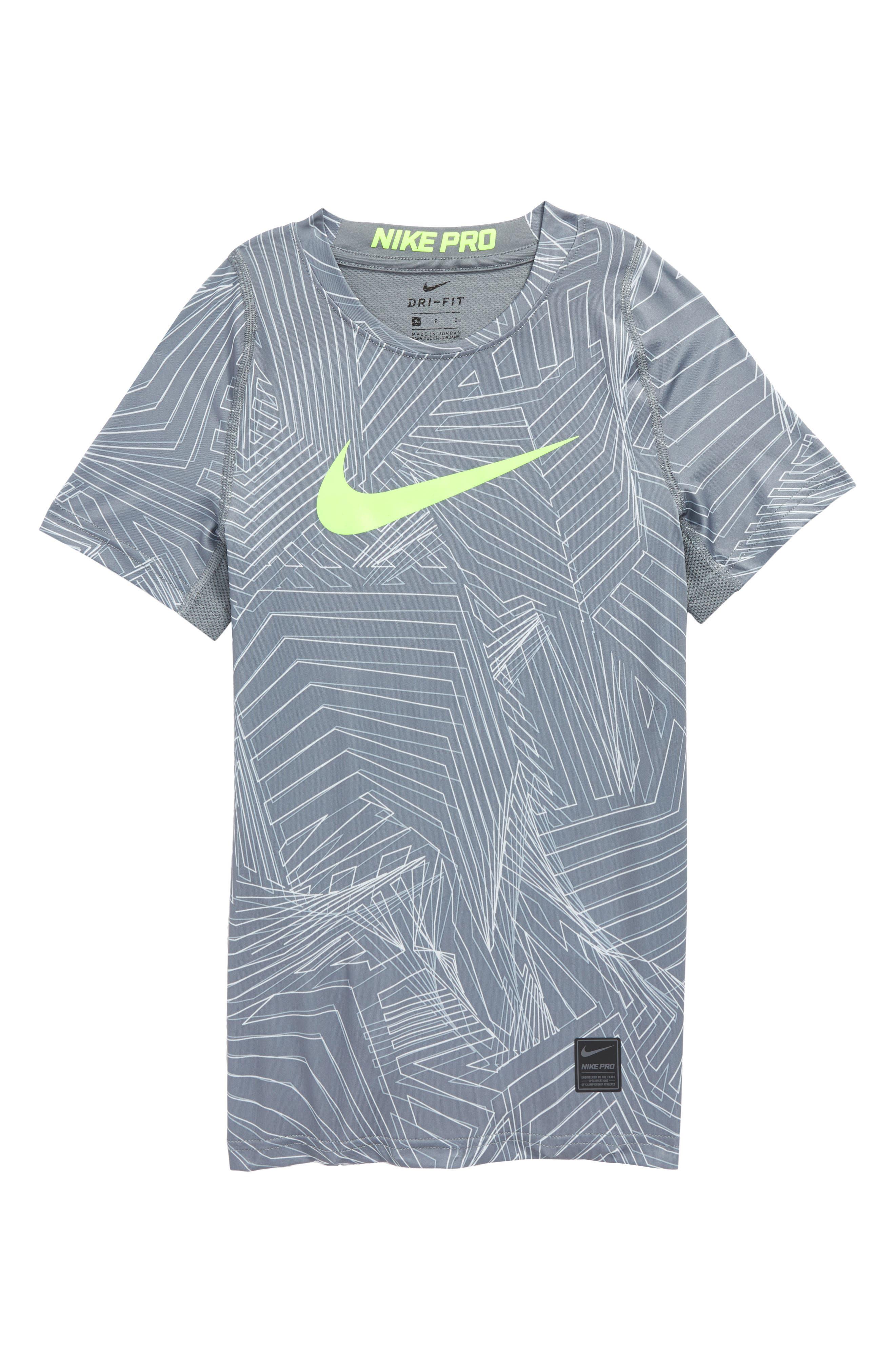 Alternate Image 1 Selected - Nike Pro Fitted Training Shirt (Little Boys & Big Boys)