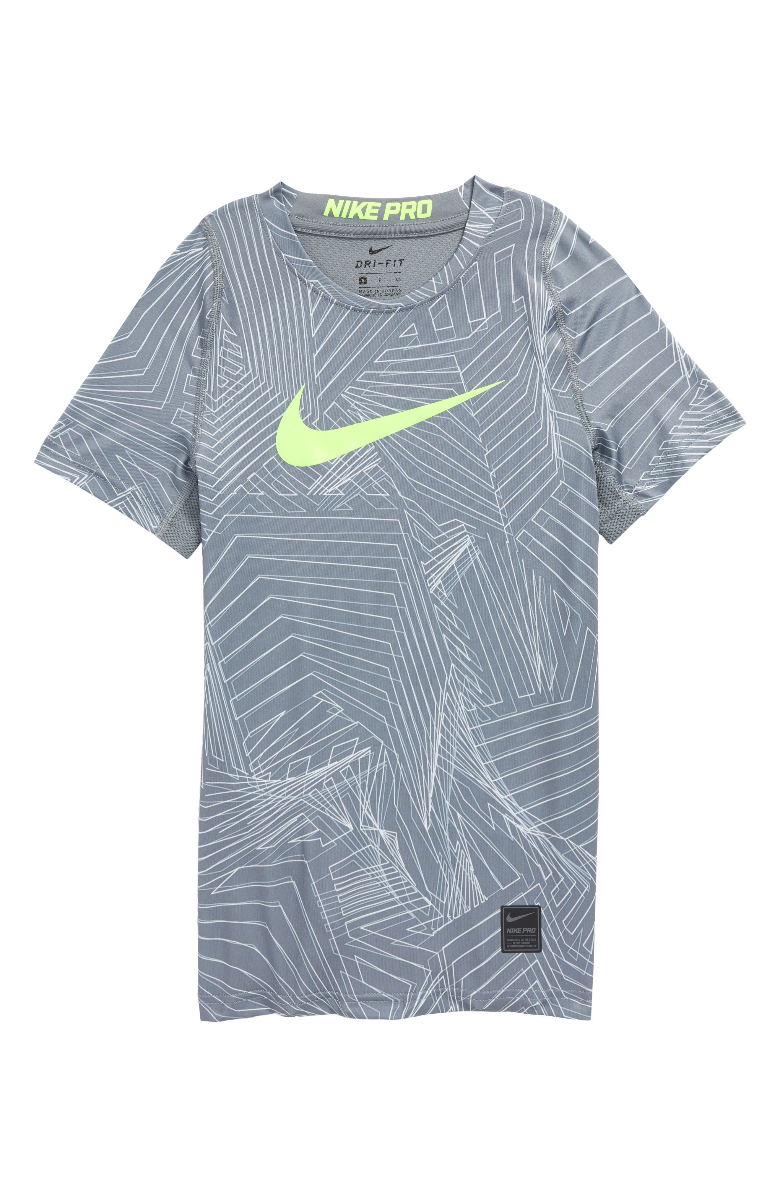 Main Image - Nike Pro Fitted Training Shirt (Little Boys & Big Boys)