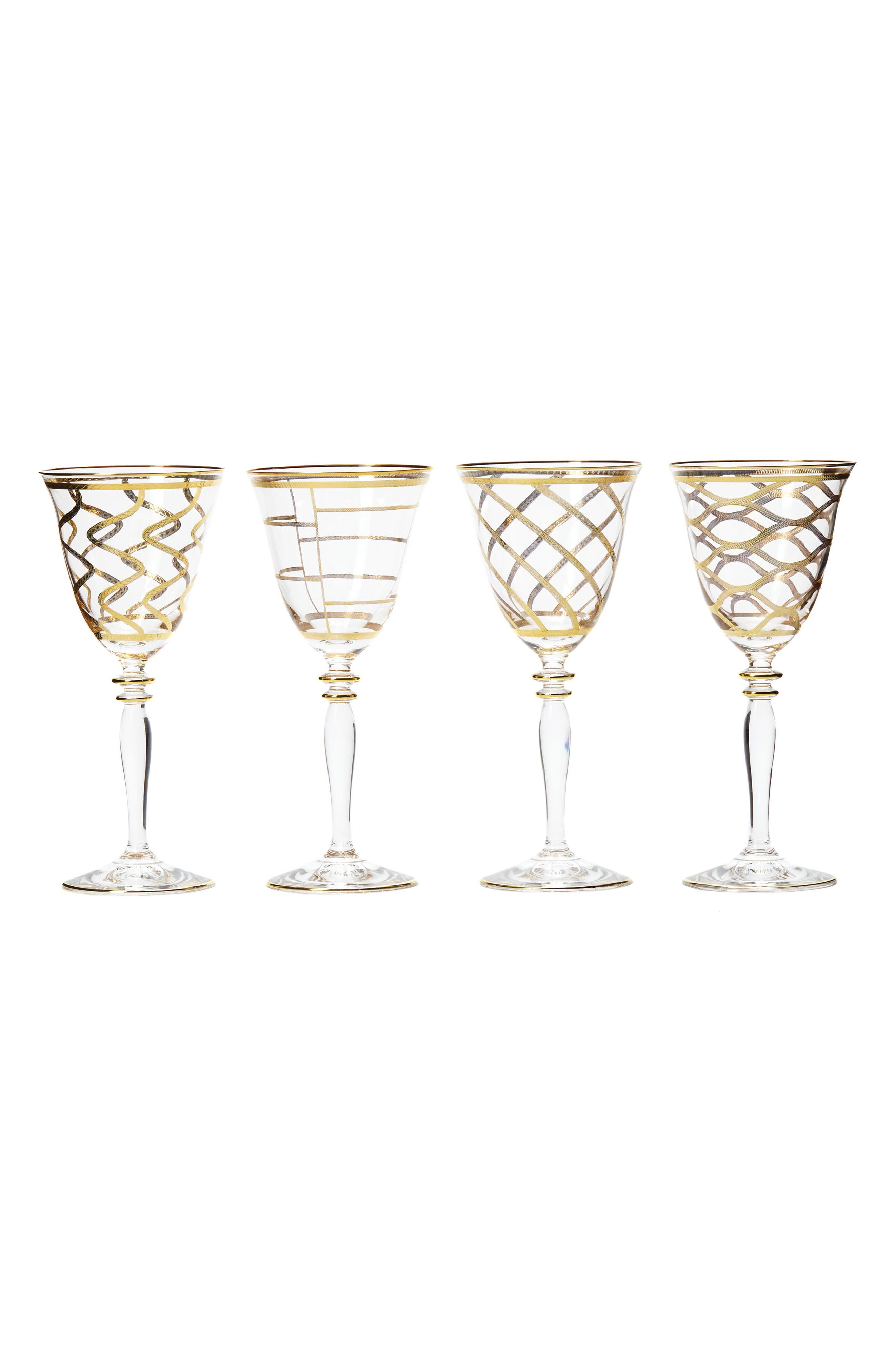 Vietri Elegante Set of 4 Wine Glasses
