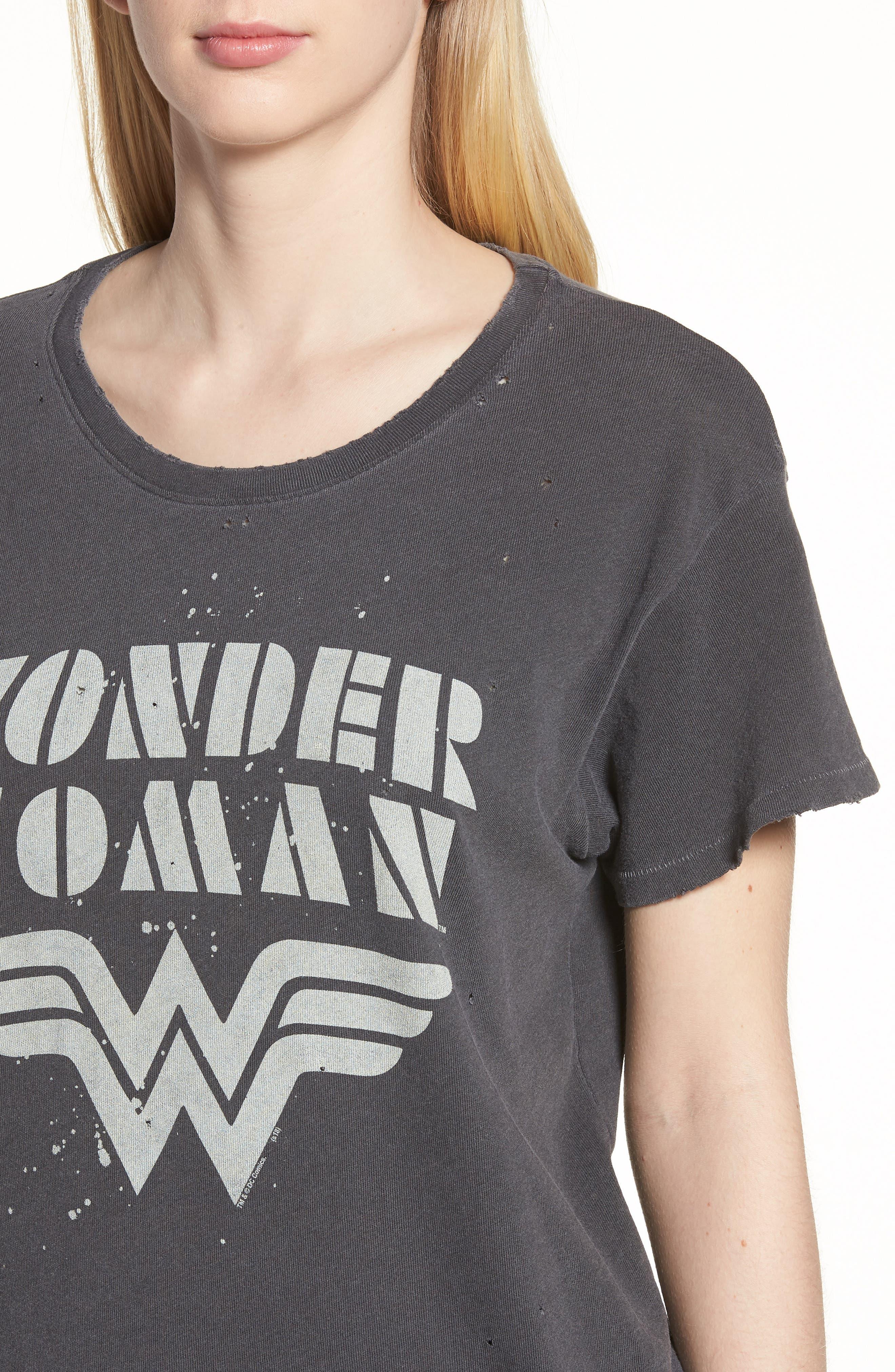 Wonder Woman Tee,                             Alternate thumbnail 4, color,                             Vintage Black