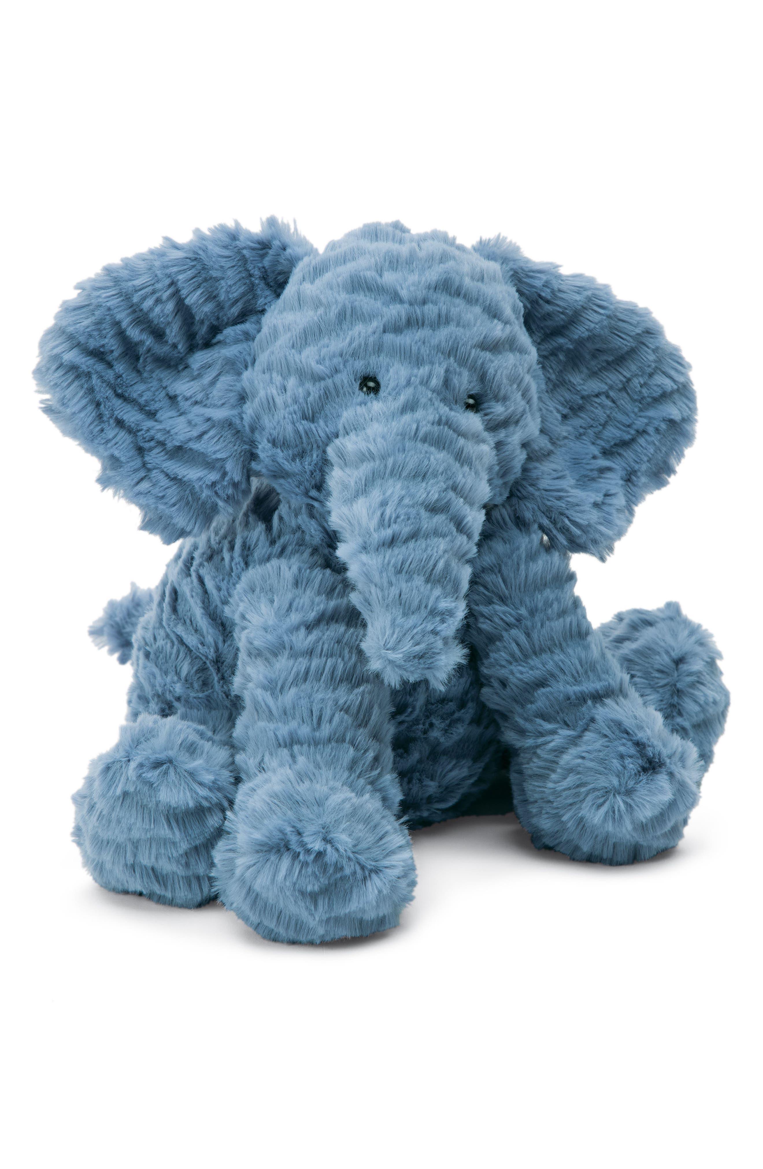 Fuddlewuddle Elephant Stuffed Animal,                         Main,                         color, Blue