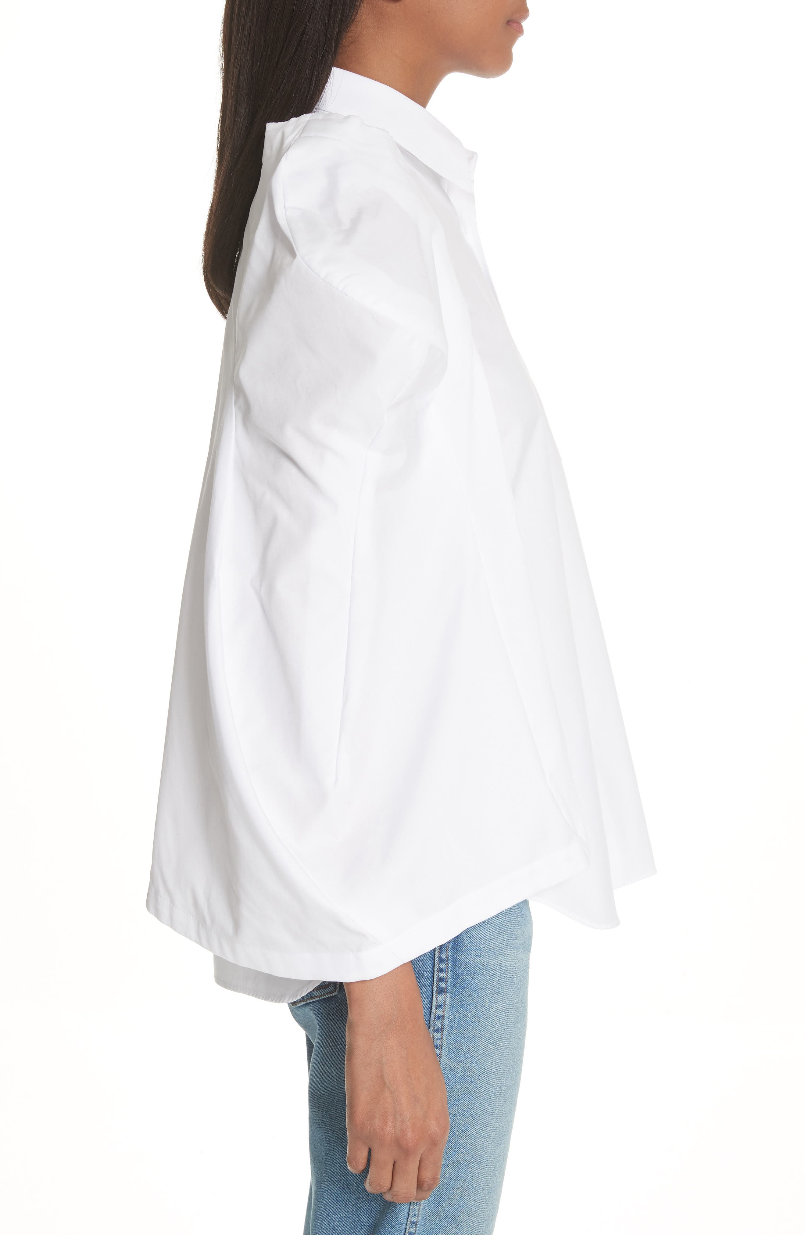 Puff Sleeve Blouse,                             Alternate thumbnail 3, color,                             White