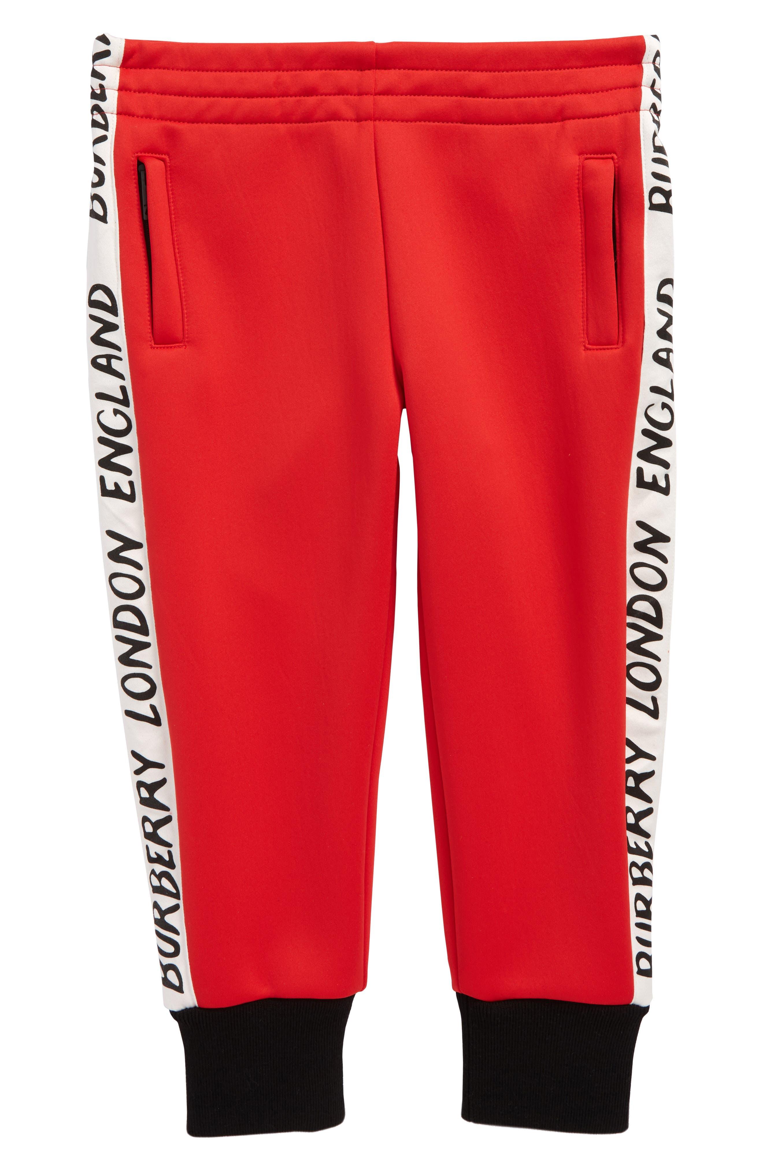 Bernard Logo Track Pants,                         Main,                         color, Bright Red