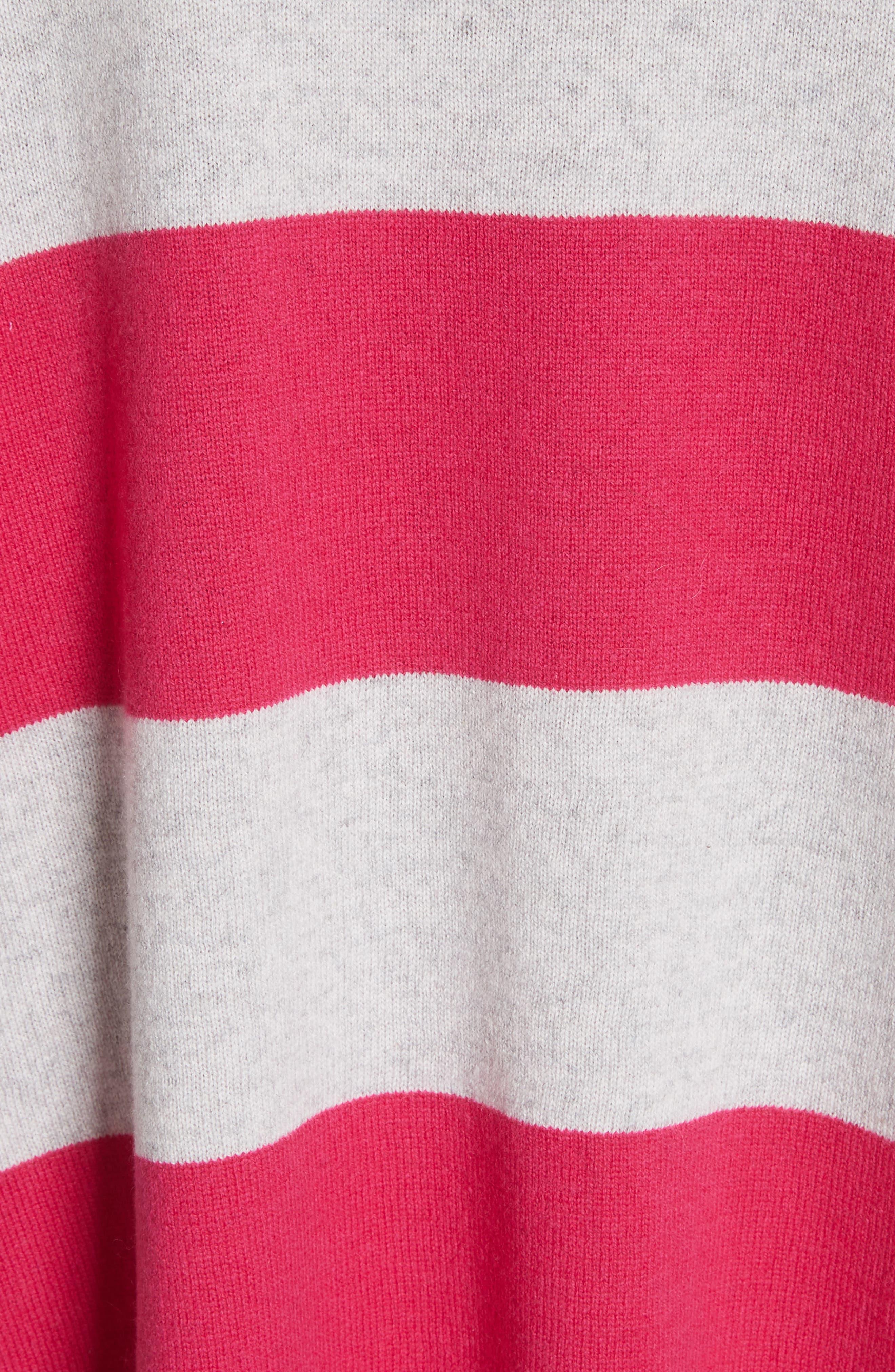 Inghin Stripe Wool & Cashmere Sweater,                             Alternate thumbnail 5, color,                             Hacienda/ Heather Grey