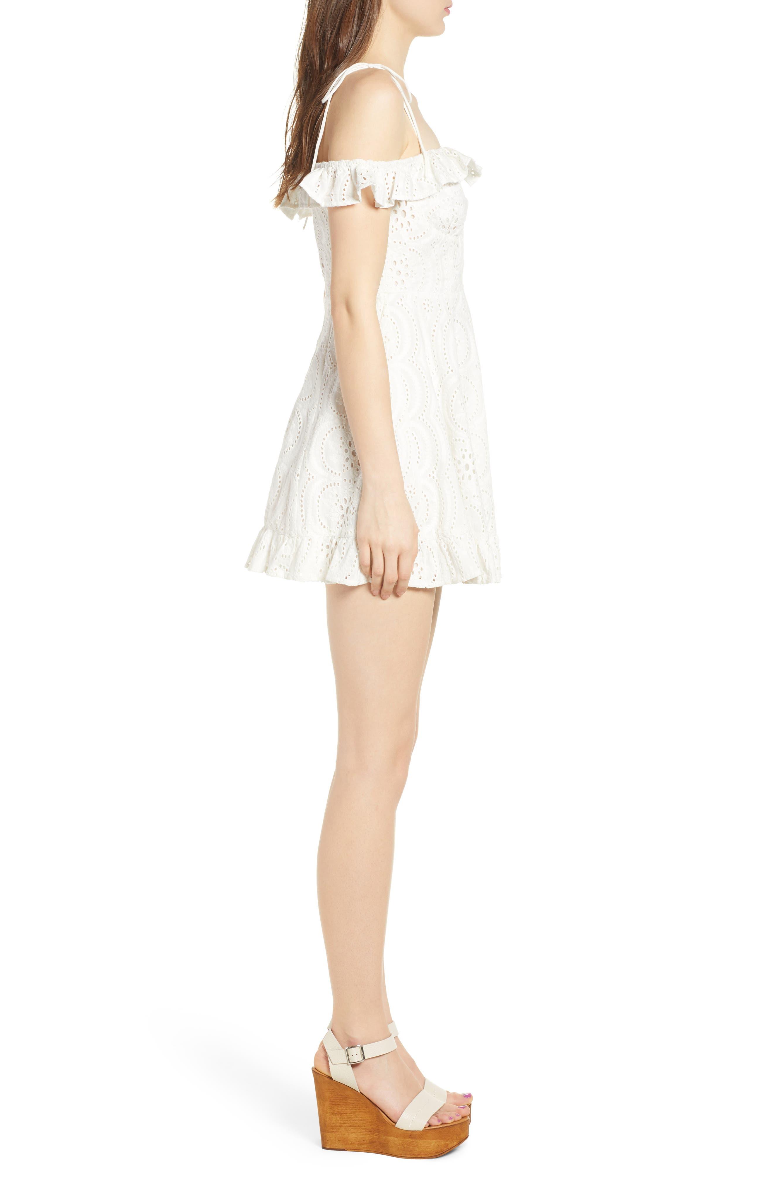 Alternate Image 3  - Lovers + Friends Kate Lace Minidress