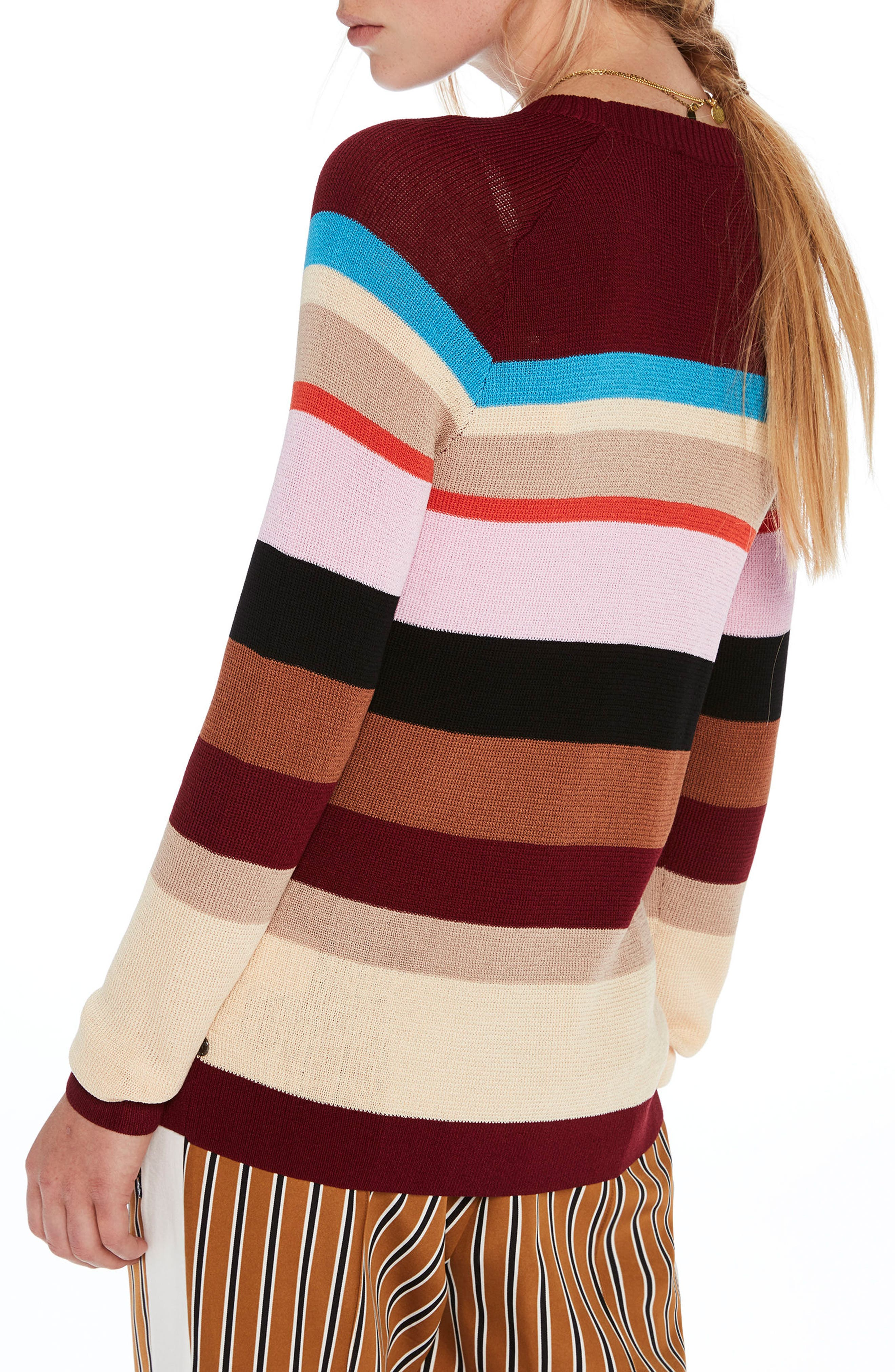 Colorful Stripe Sweater,                             Alternate thumbnail 2, color,                             Combo A