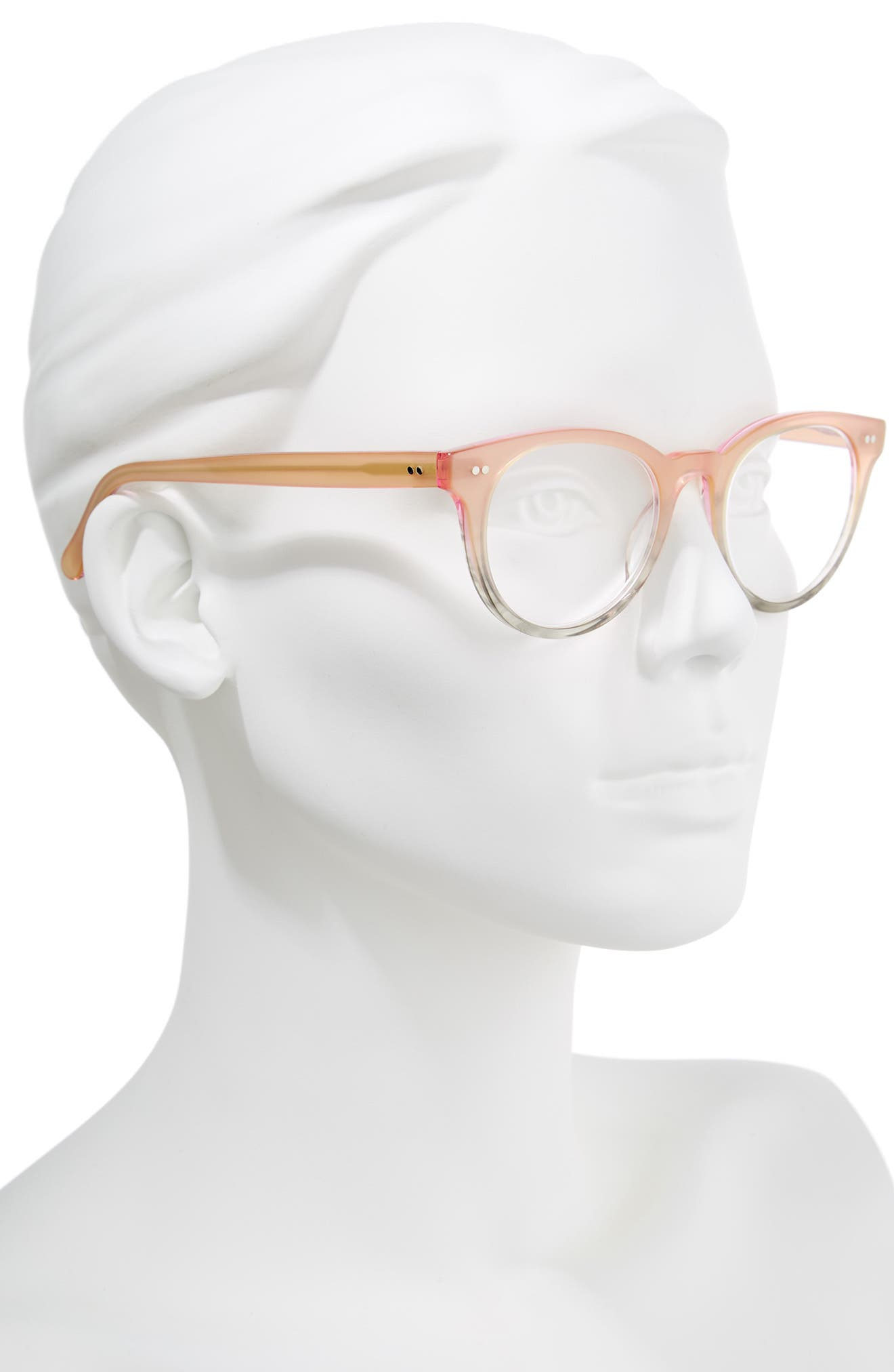 Abby 50mm Reading Glasses,                             Alternate thumbnail 2, color,                             Pink/ Grey