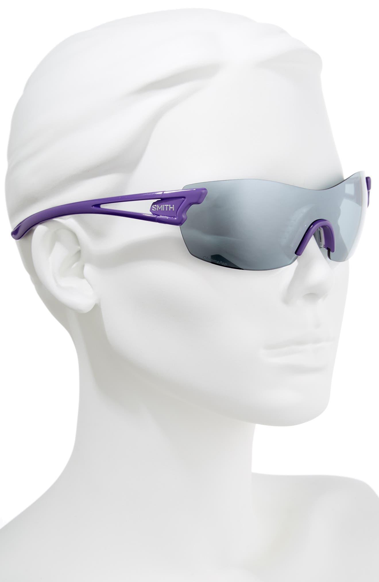 PivLock<sup>™</sup> Asana 150mm ChromaPop Polarized Sunglasses,                             Alternate thumbnail 2, color,                             Violet
