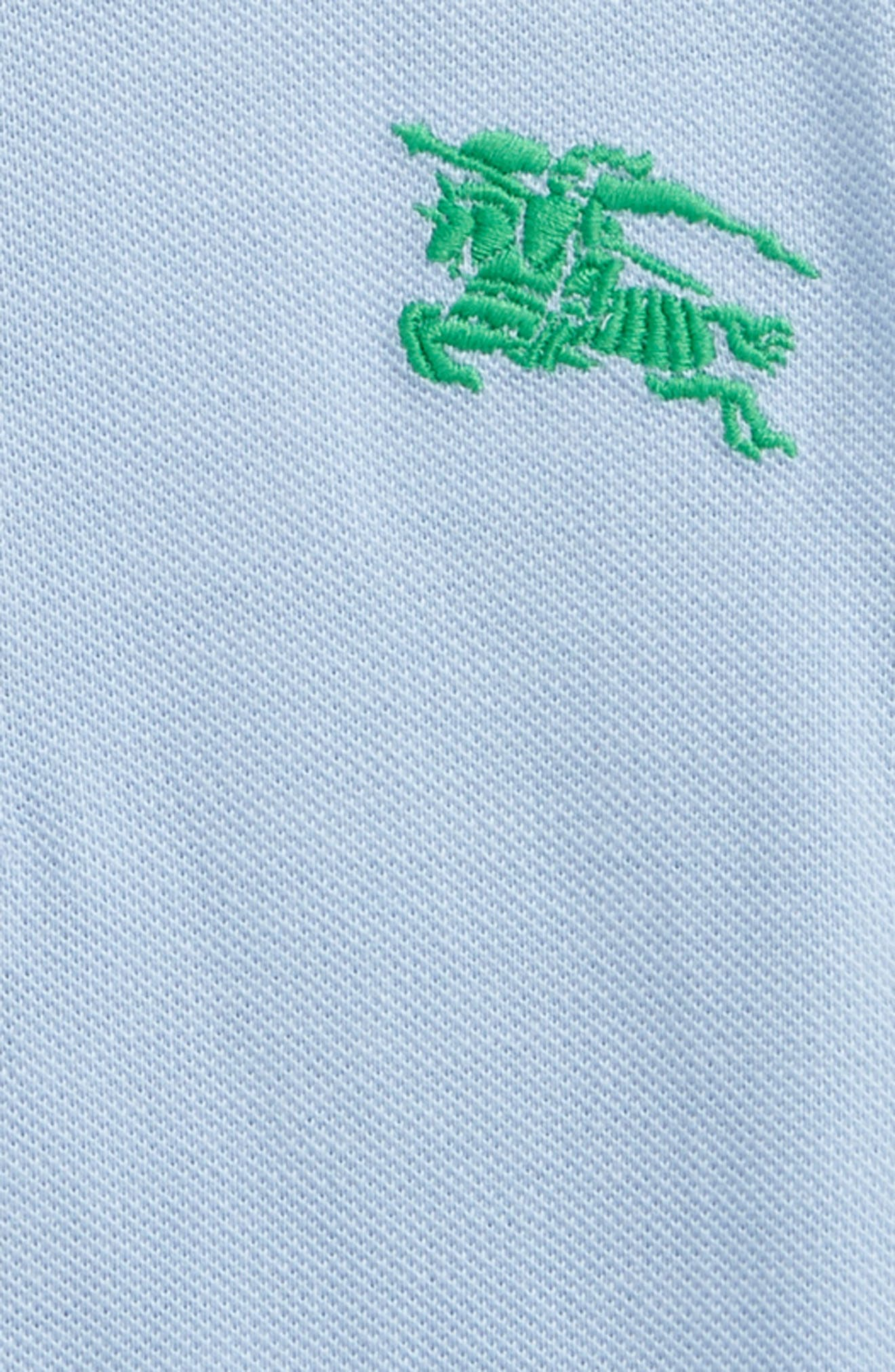 Palmer Cotton Piqué Polo,                             Alternate thumbnail 2, color,                             Sky Blue