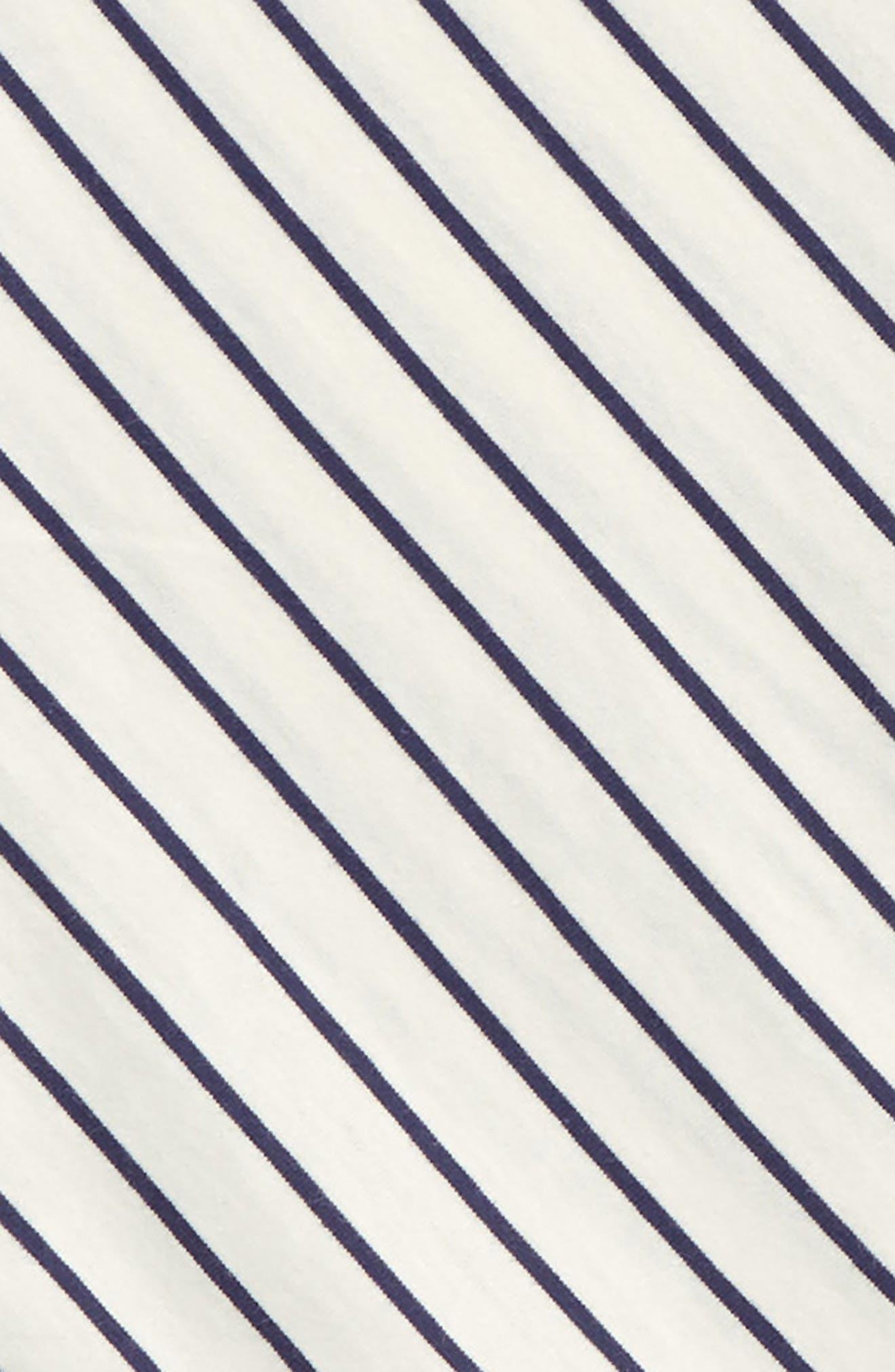Stripe Tie Waist Tee,                             Alternate thumbnail 2, color,                             Twilight