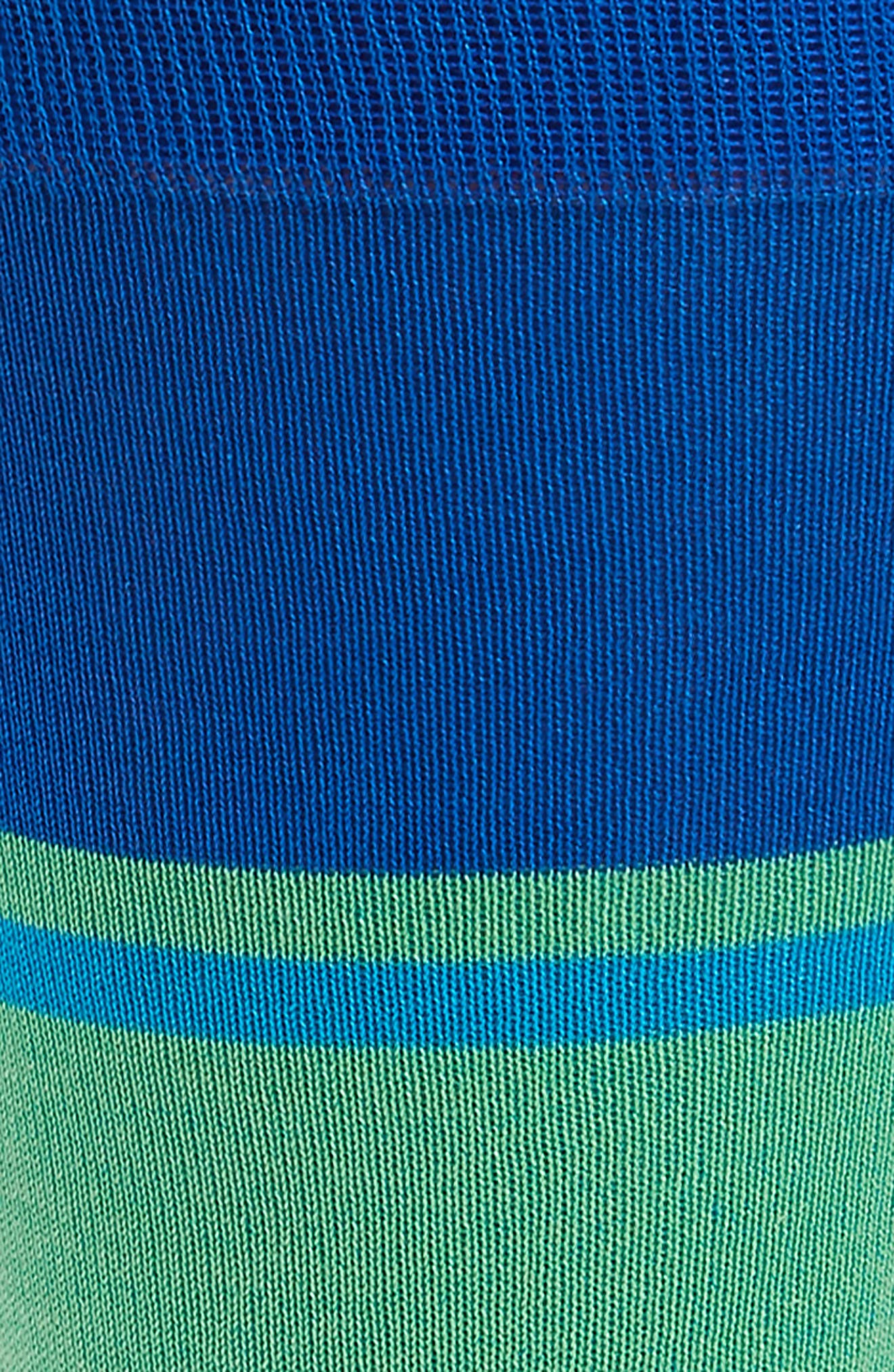 Block Stripe Socks,                             Alternate thumbnail 2, color,                             Sapphire