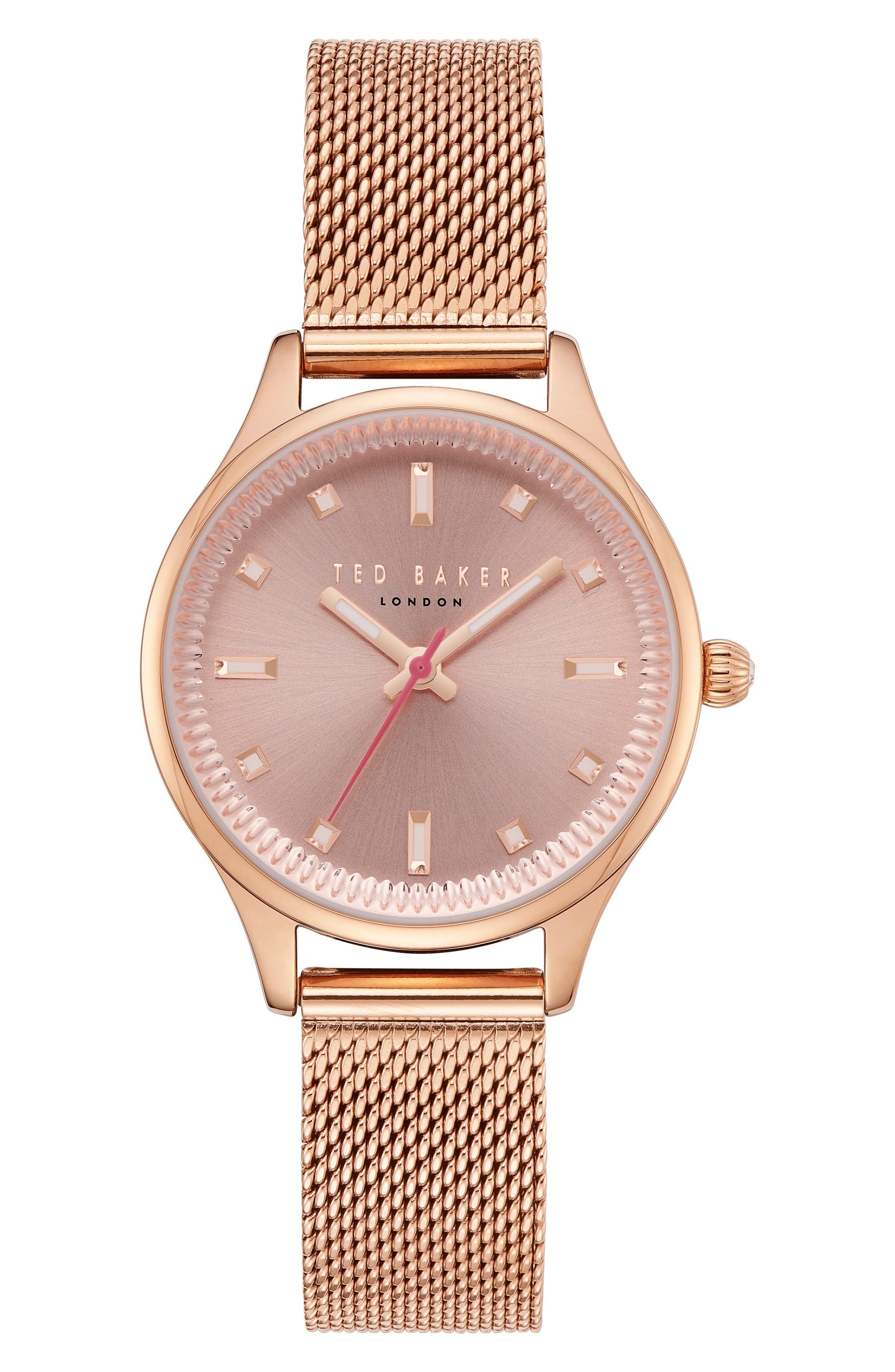 Zoe Mesh Strap Watch, 32mm,                         Main,                         color, Rose Gold