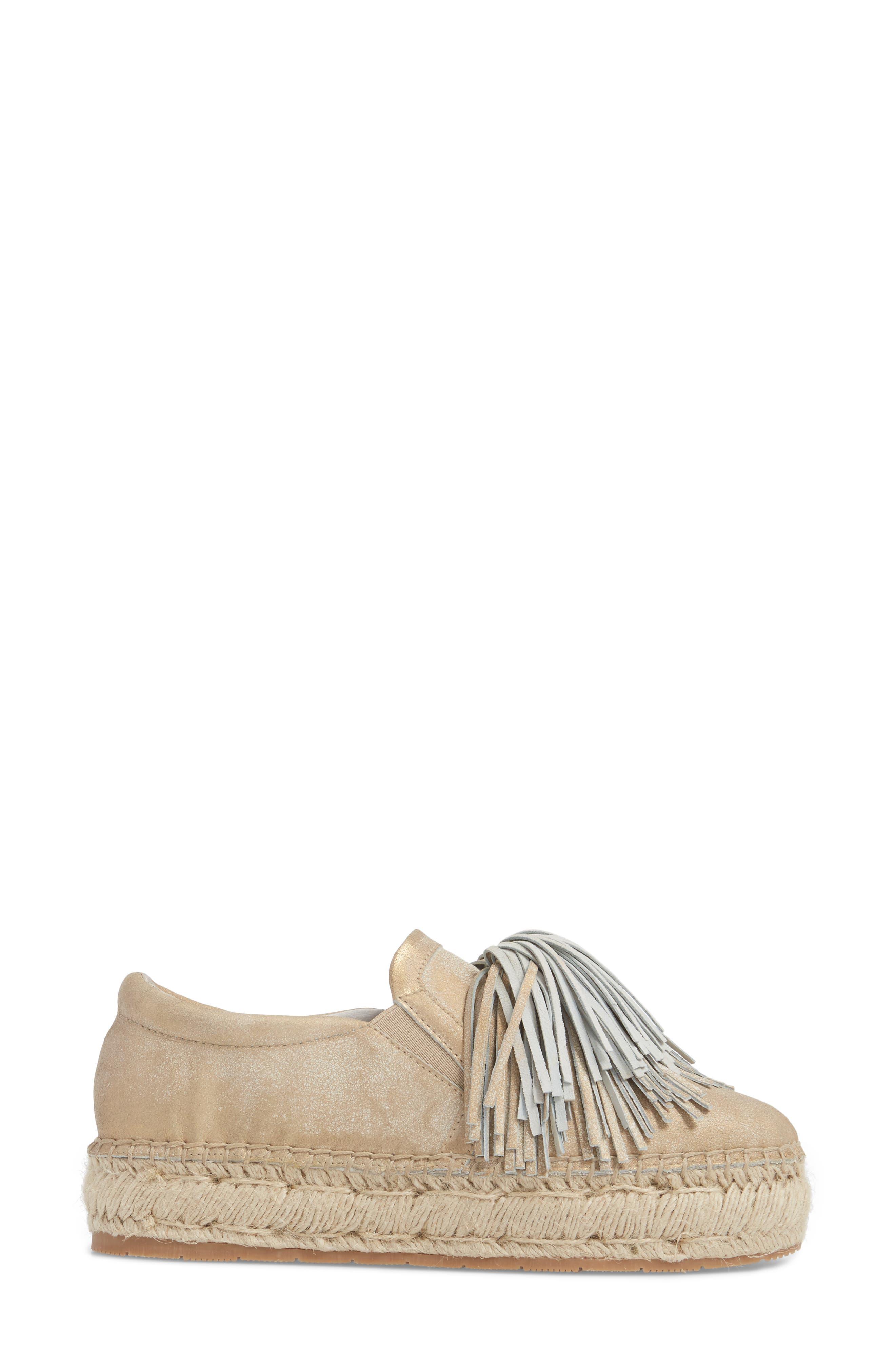 Raoul Espadrille Sneaker,                             Alternate thumbnail 3, color,                             Bronze Leather