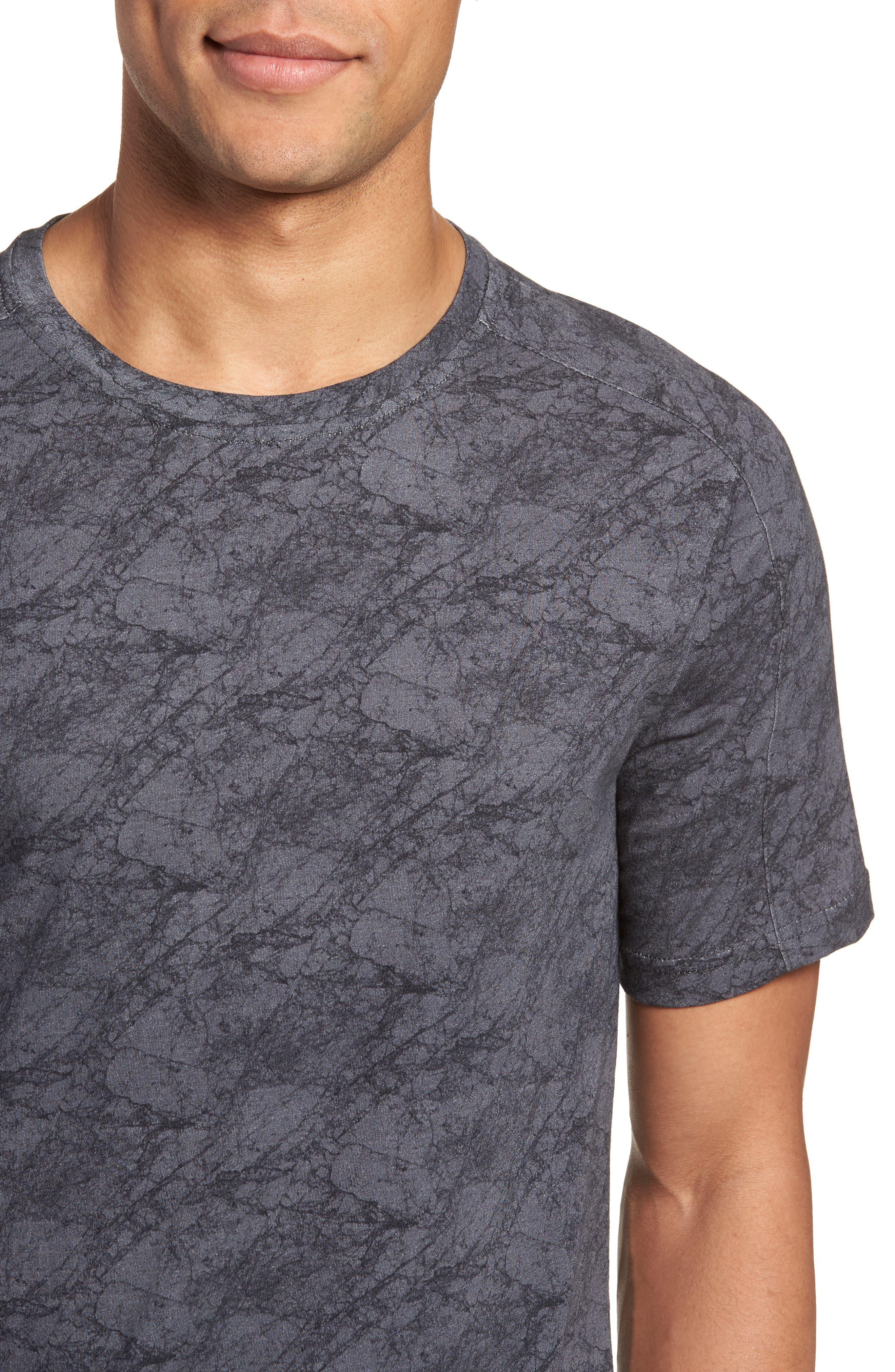 Chelsea Marble Print T-Shirt,                             Alternate thumbnail 4, color,                             Black