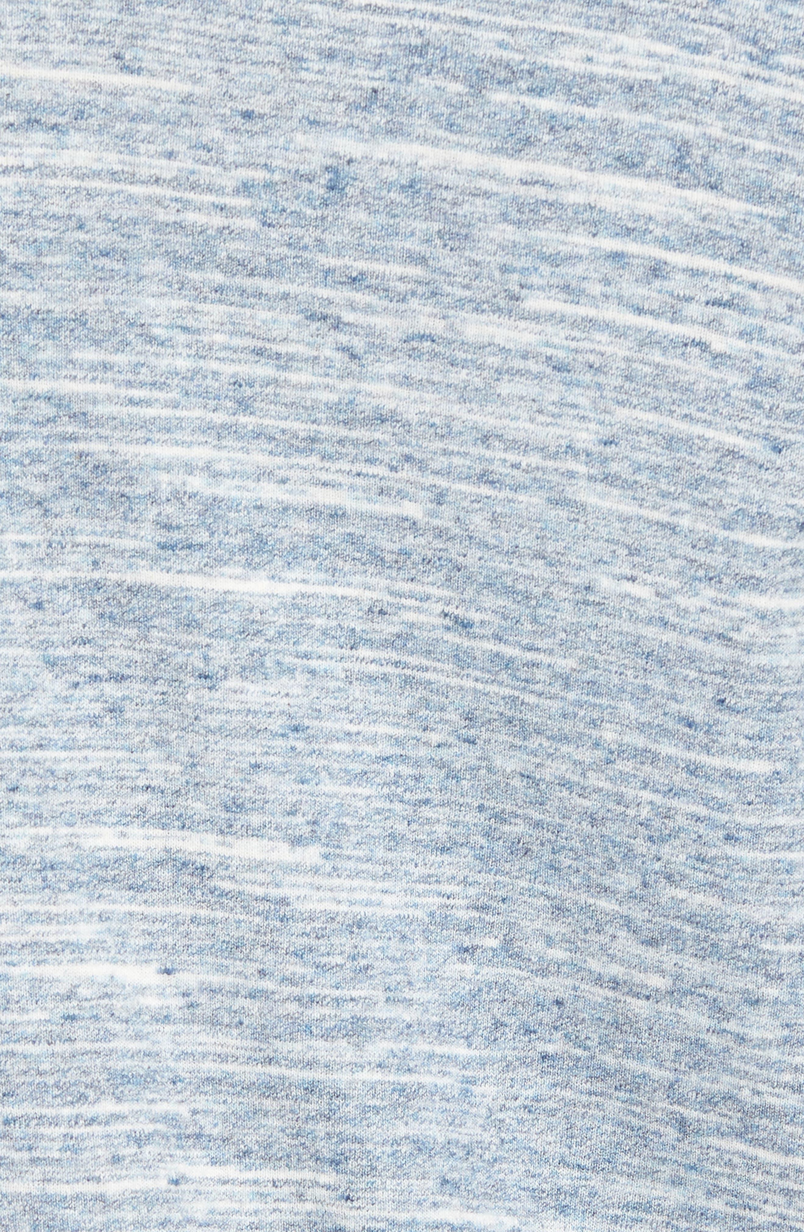 Stripe Henley,                             Alternate thumbnail 5, color,                             Blue Orydalis Heather