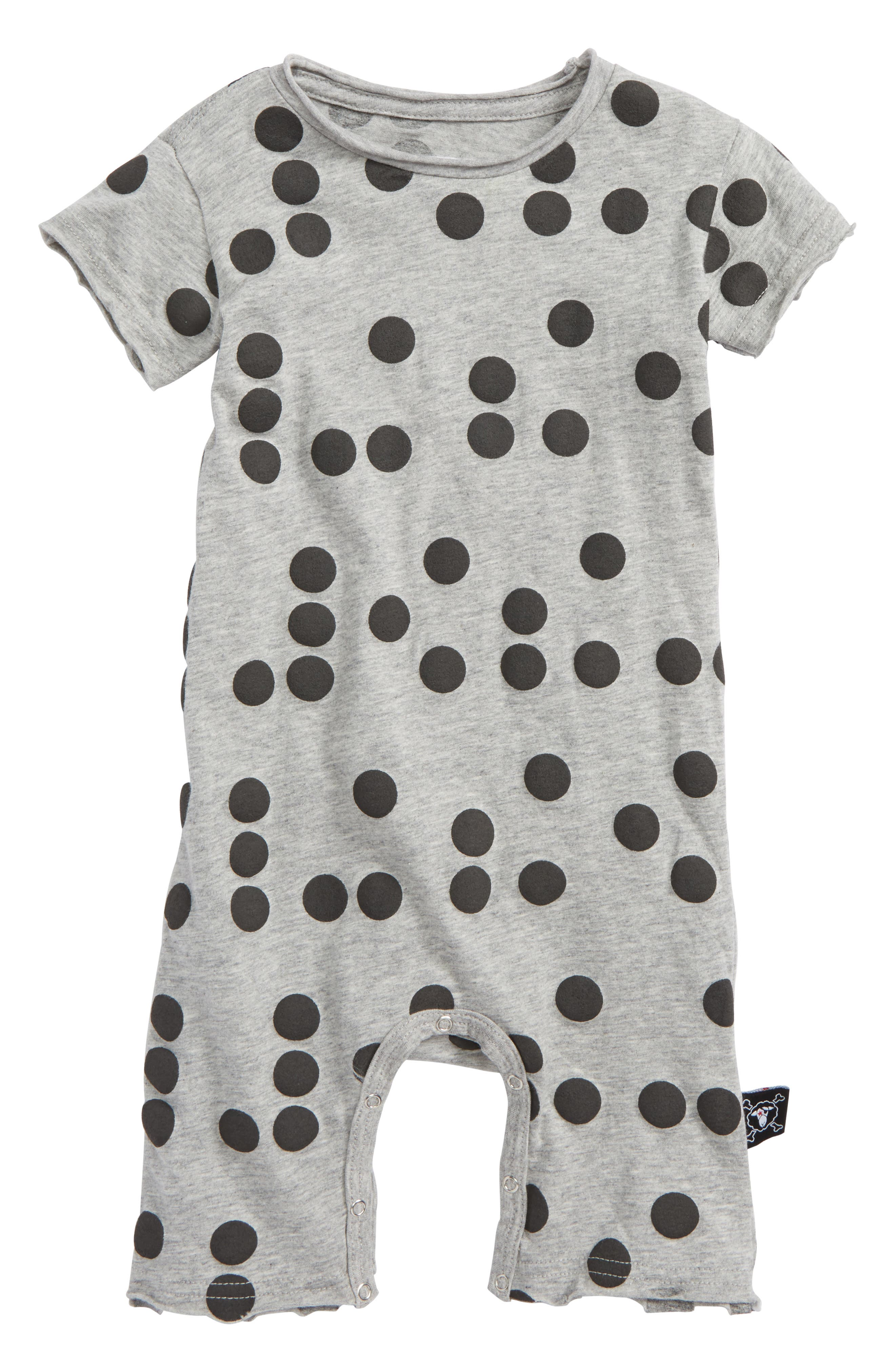 Main Image - Nununu Braille Romper (Baby)