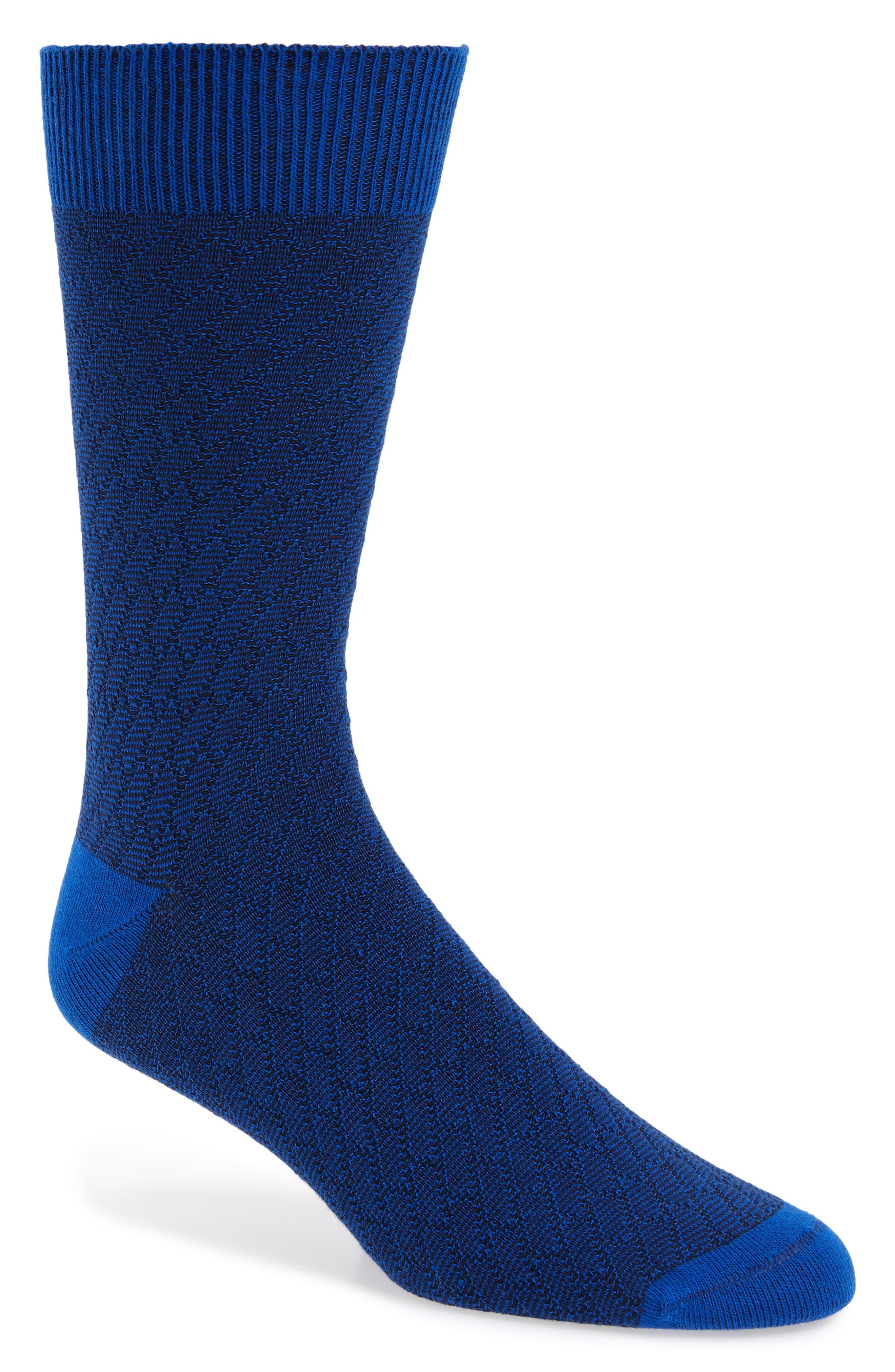 Lozpro Geometric Socks,                             Main thumbnail 1, color,                             Blue
