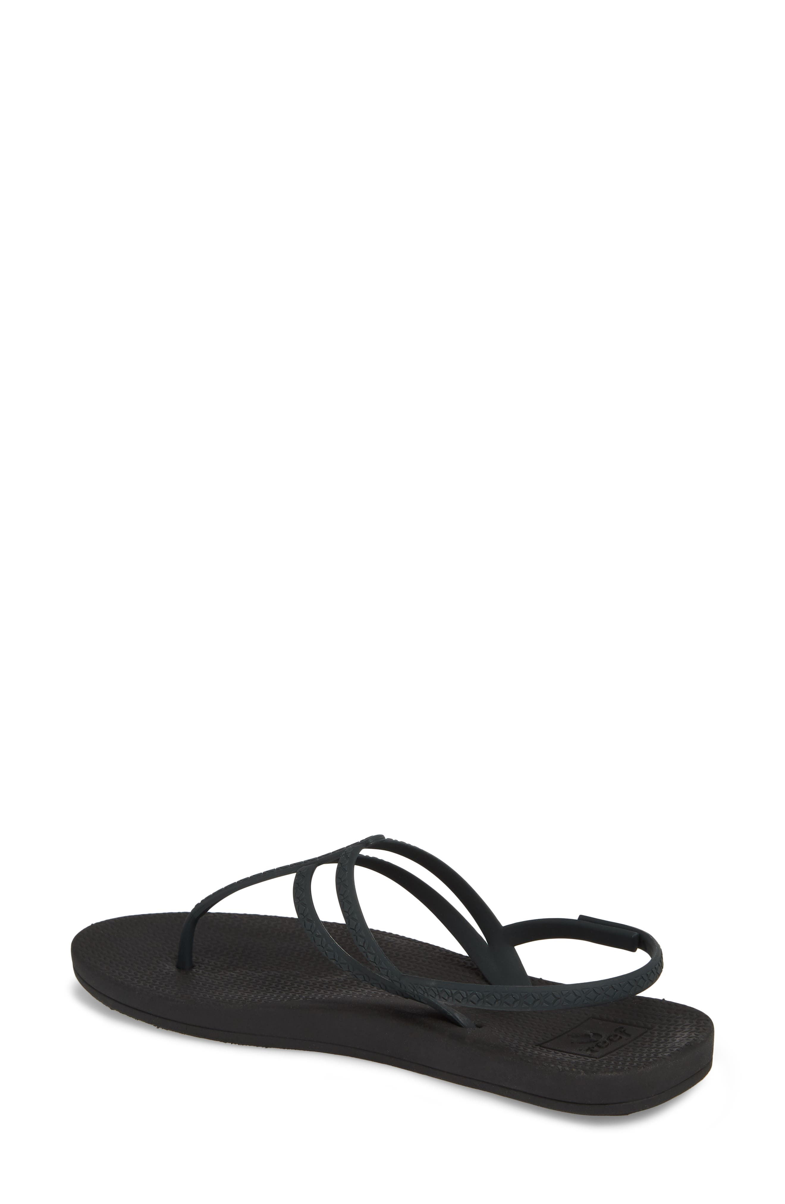 Escape Lux T-Strap Sandal,                             Alternate thumbnail 2, color,                             Black