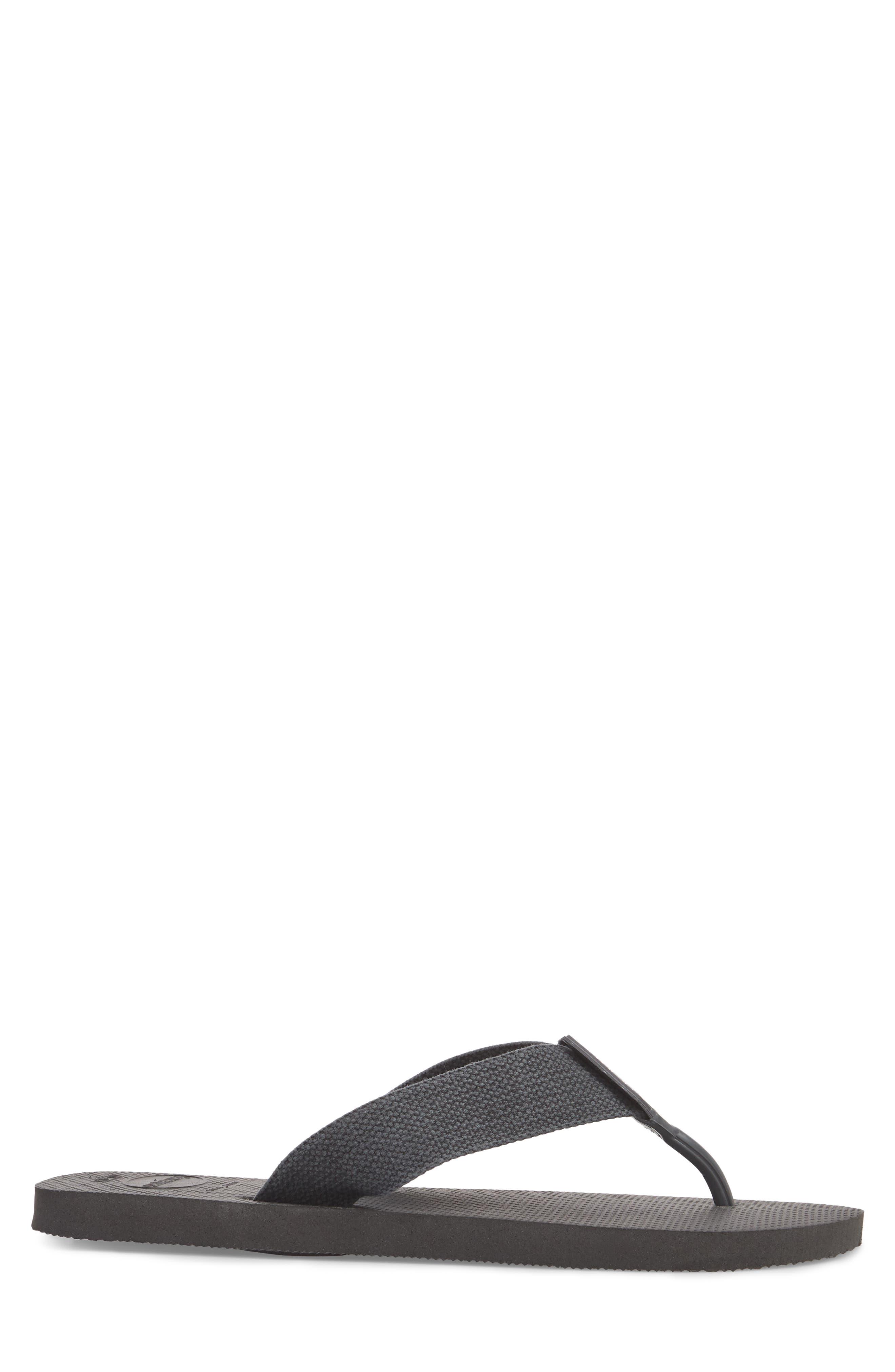 Havianas 'Urban Basic' Flip Flop,                             Alternate thumbnail 3, color,                             Black/ Grey