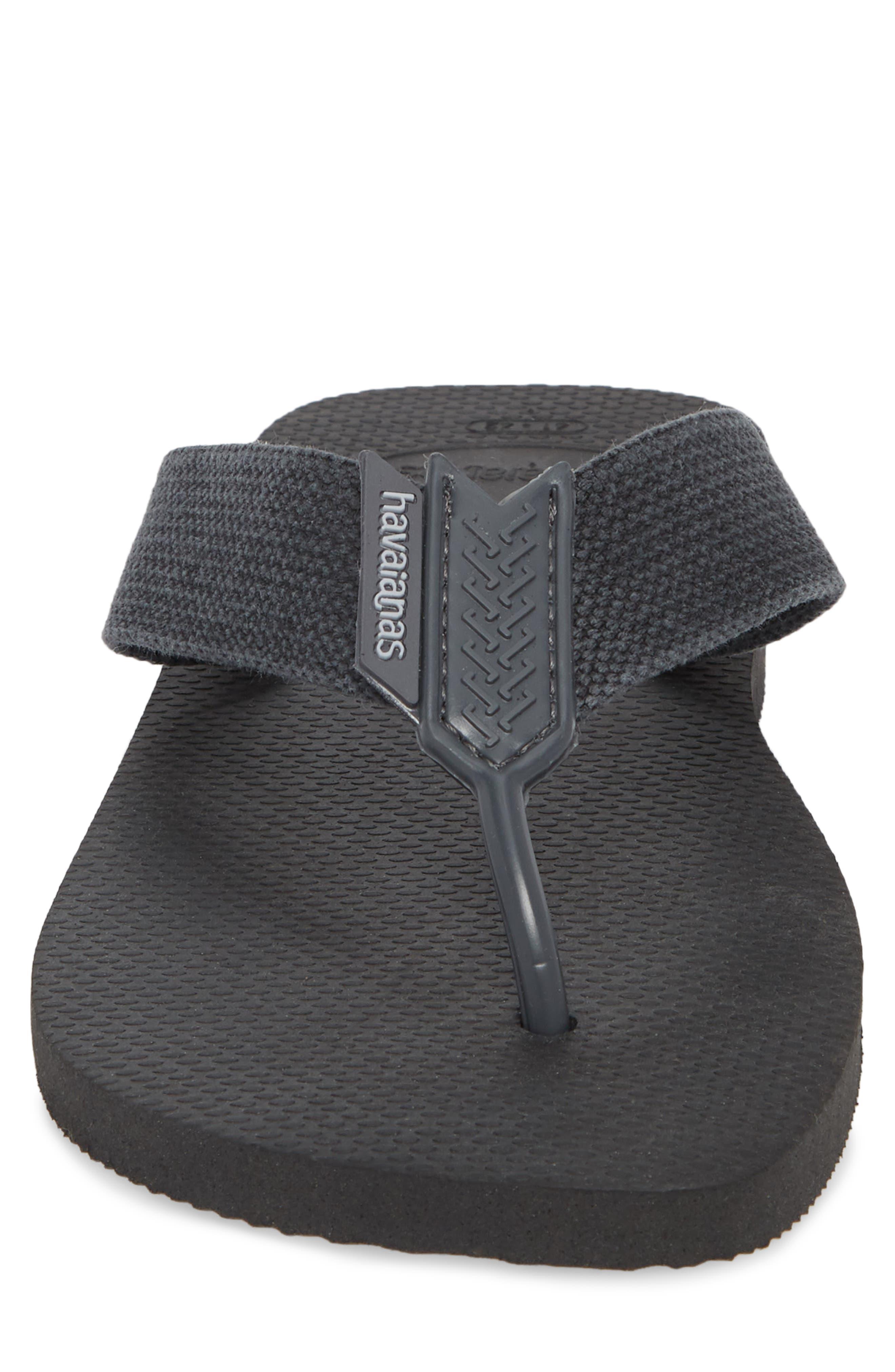 Havianas 'Urban Basic' Flip Flop,                             Alternate thumbnail 4, color,                             Black/ Grey